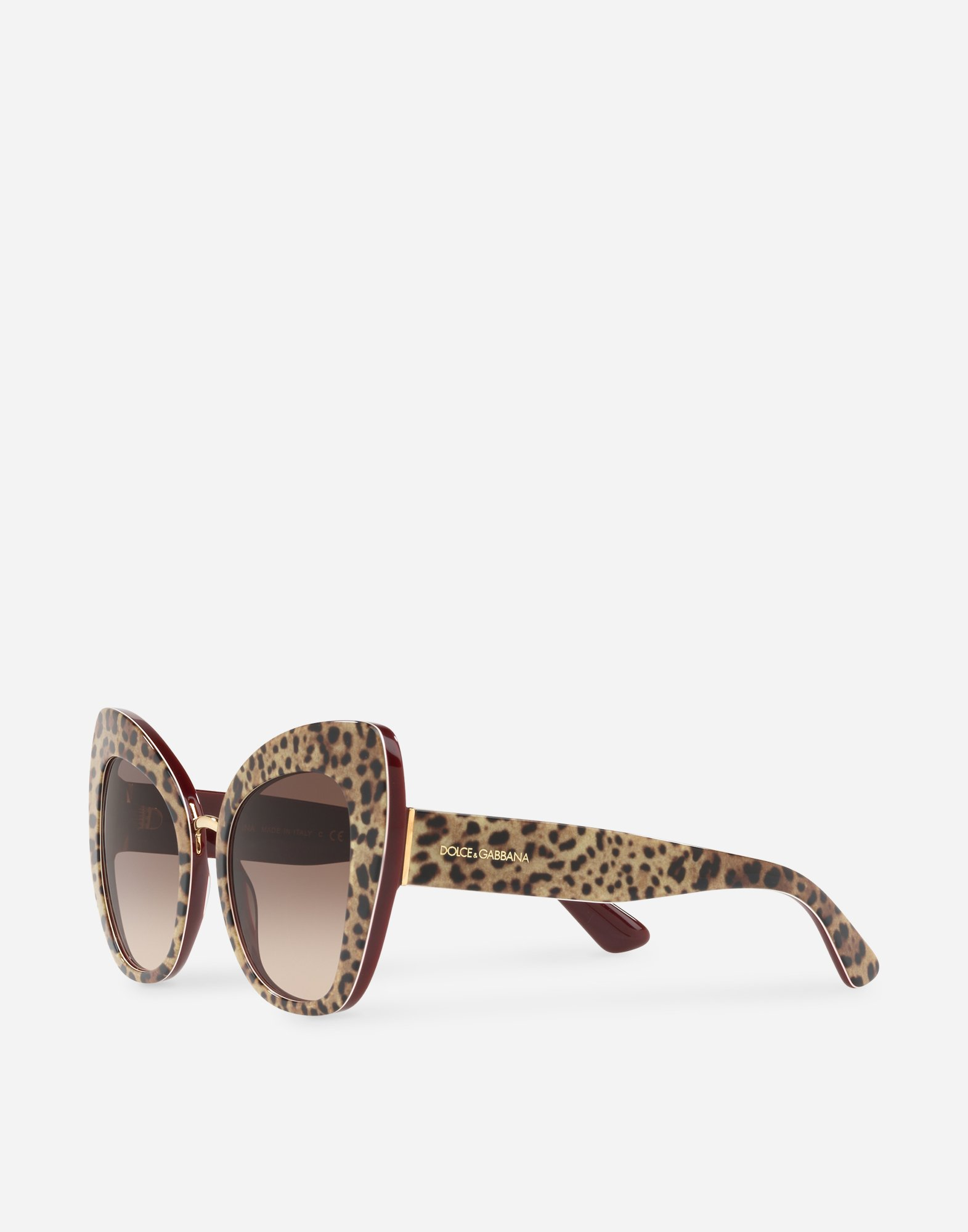 BUTTERFLY SUNGLASSES IN LEOPARD PRINT ACETATE