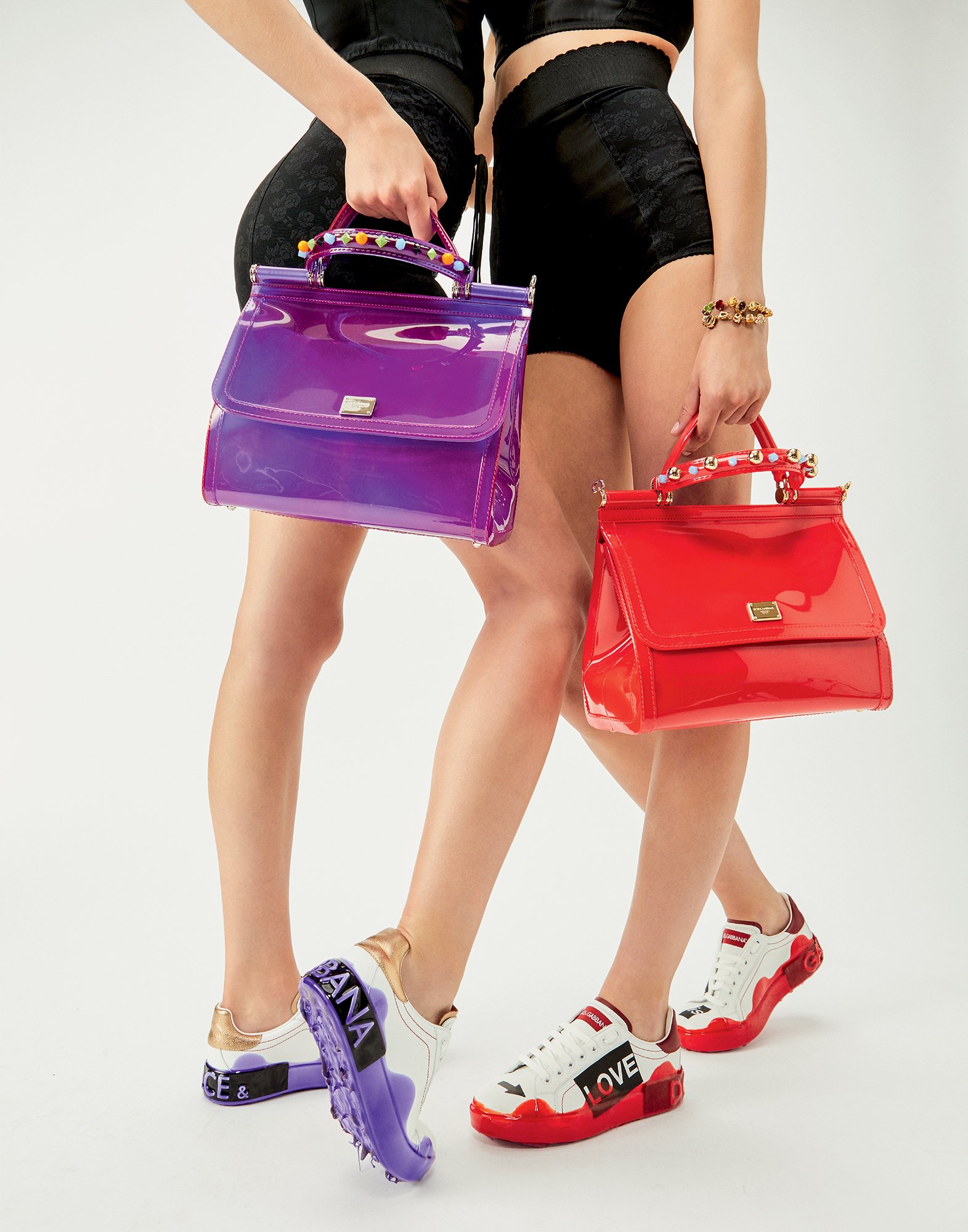 Dolce & Gabbana PORTOFINO MELT SNEAKERS IN PRINTED NAPPA CALFSKIN