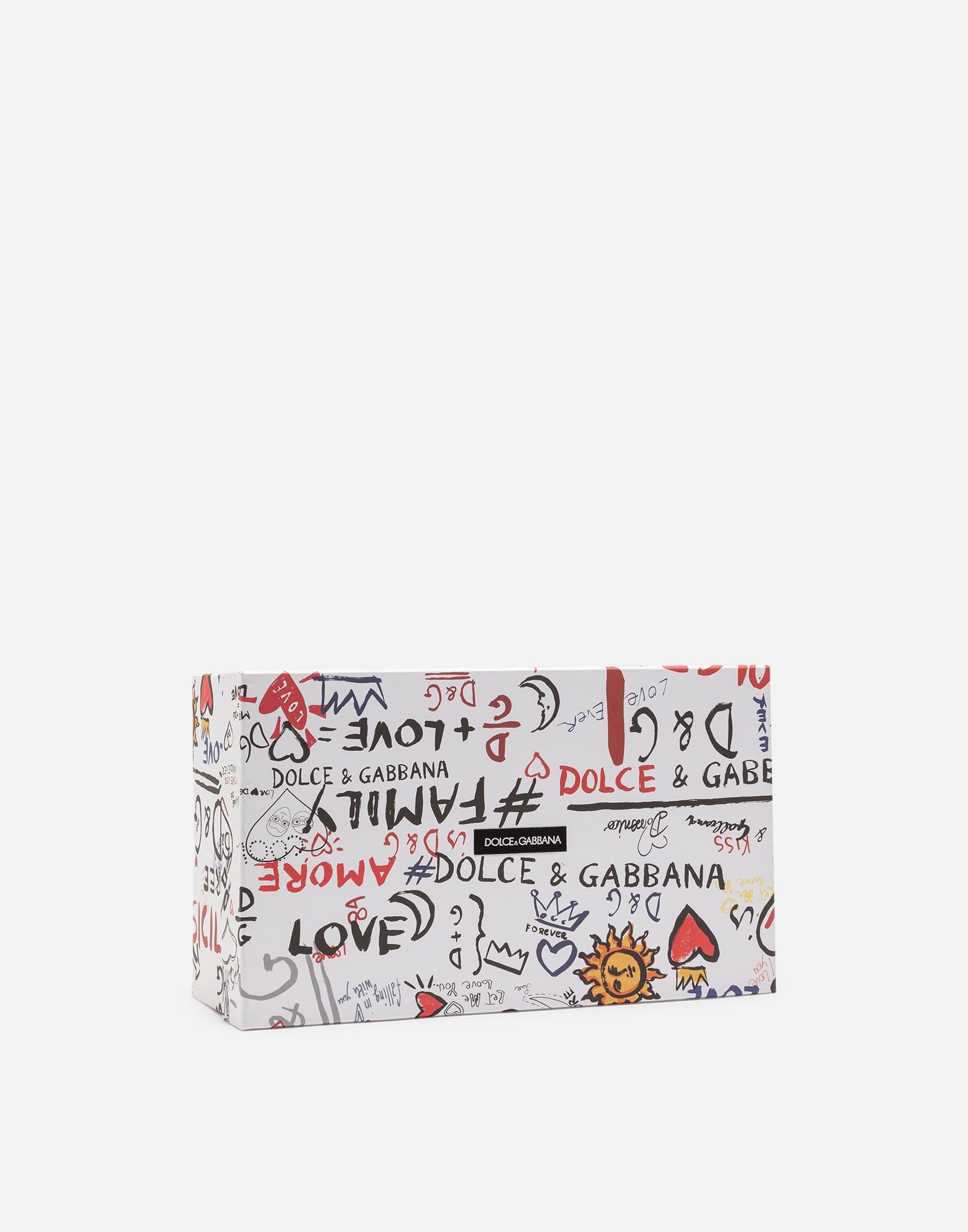 Dolce & Gabbana PORTOFINO MELT SNEAKERS IN PRINTED NAPPA LEATHER