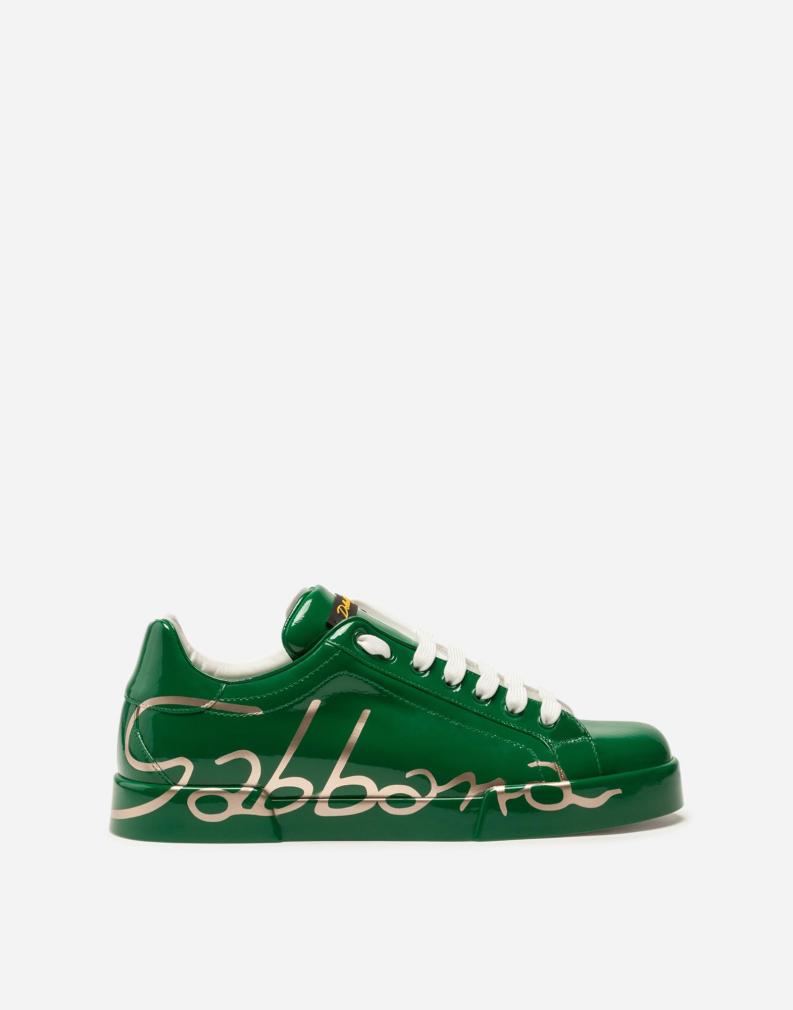 Dolce & Gabbana THREE-COLOR LEATHER PORTOFINO SNEAKERS