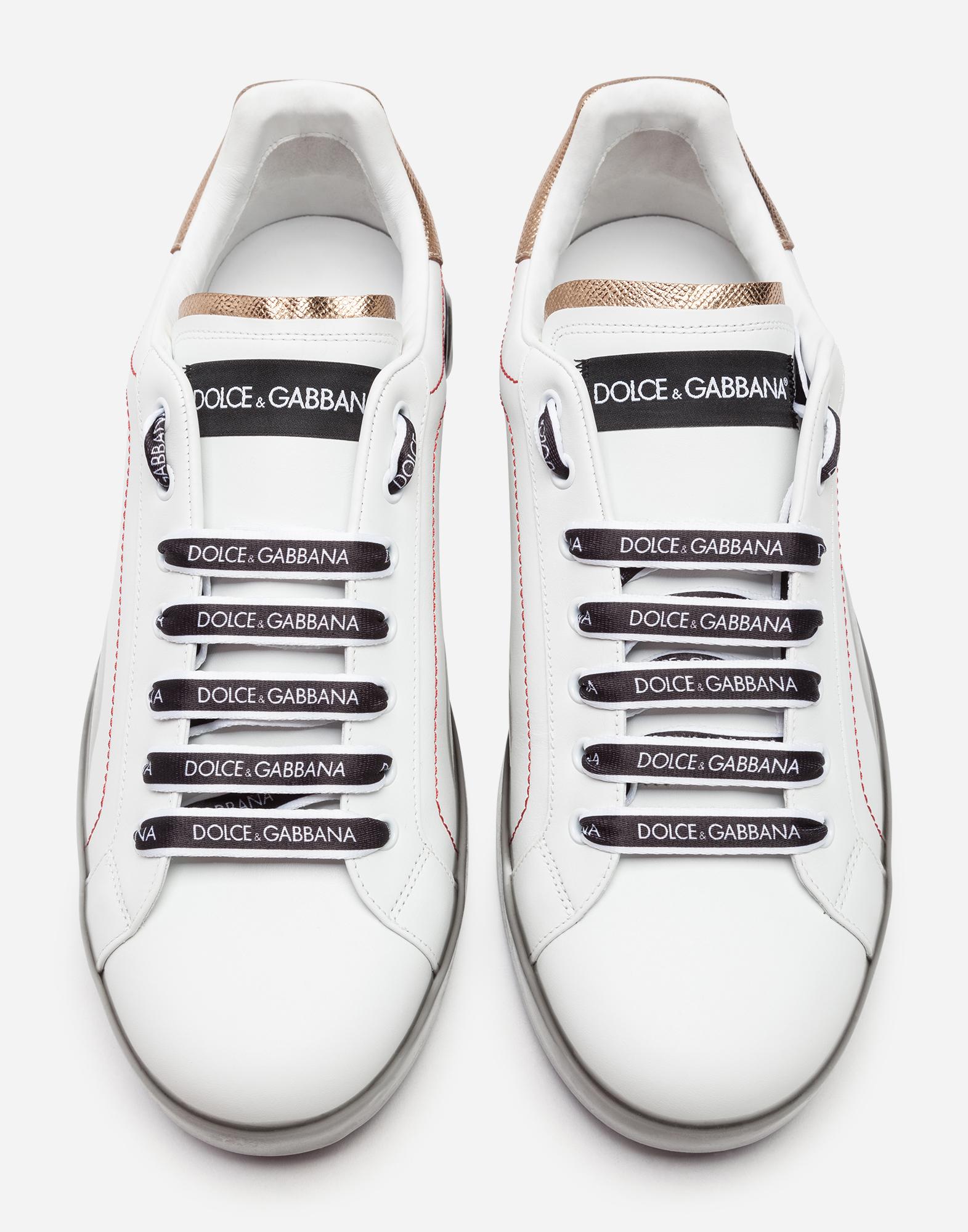 Dolce & Gabbana PORTOFINO MELT SNEAKERS IN NAPPA CALFSKIN
