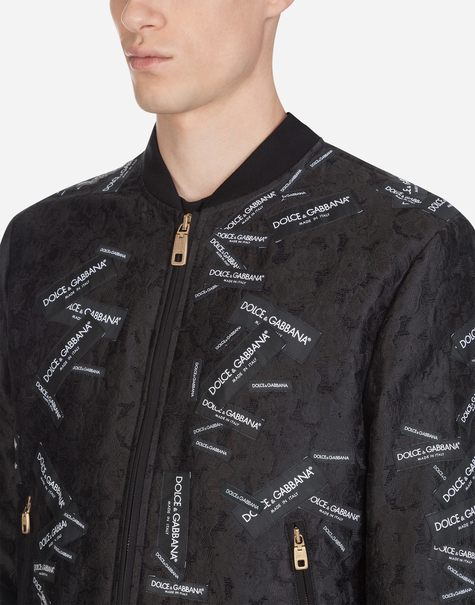 Dolce & Gabbana JACQUARD JACKET WITH PATCH