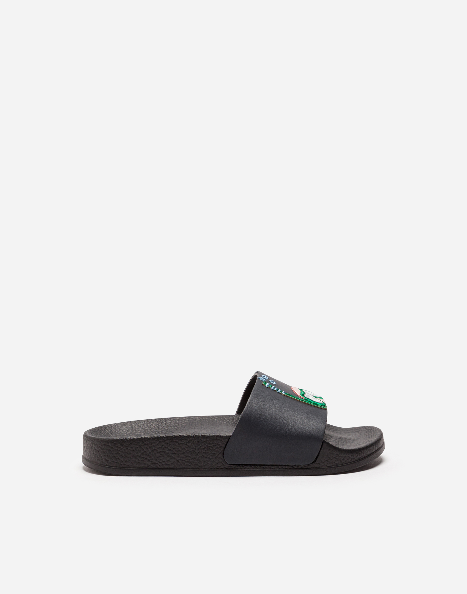 Dolce & Gabbana RUBBER SLIDERS WITH PATCH