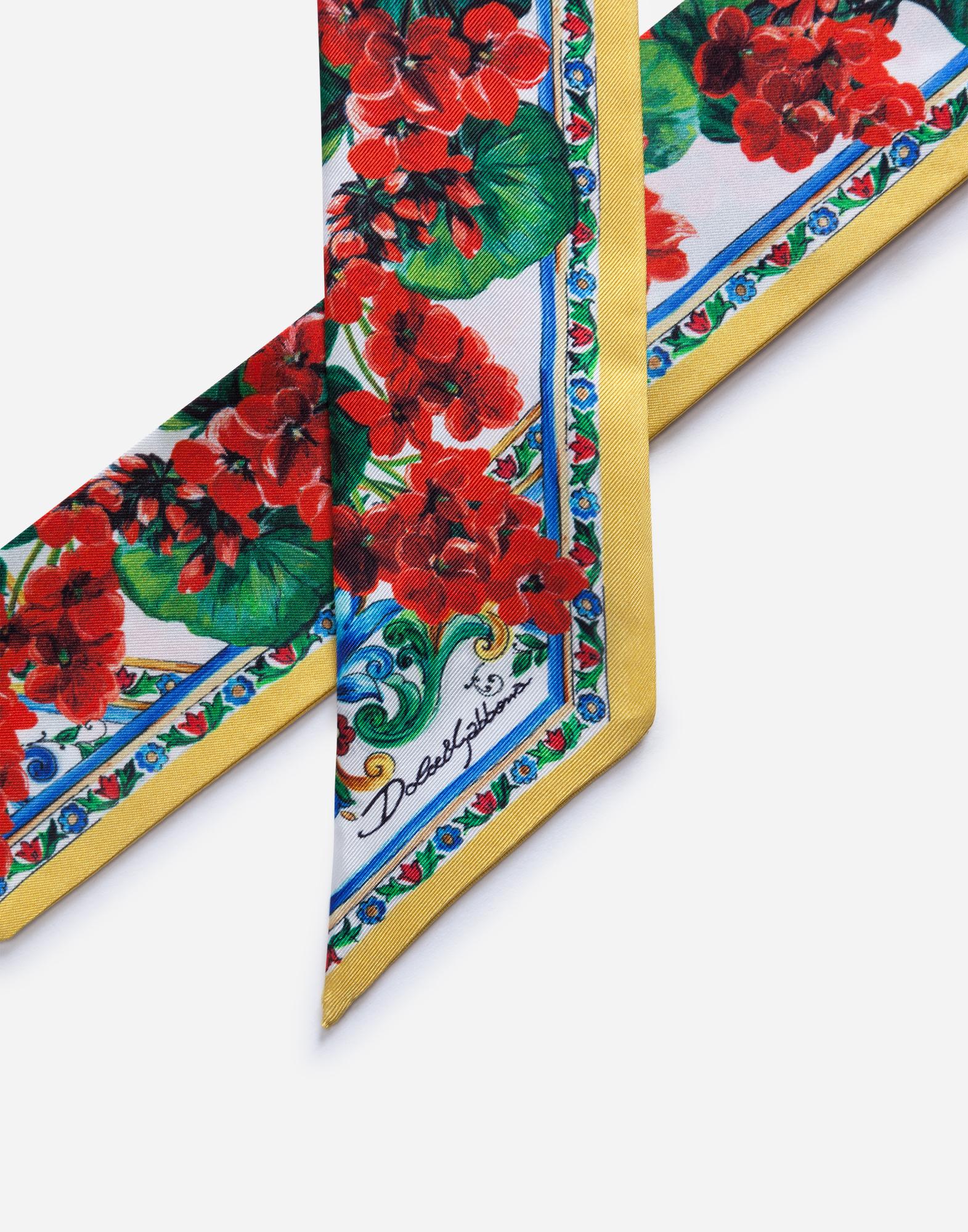 Dolce & Gabbana PRINTED SILK HEADBAND