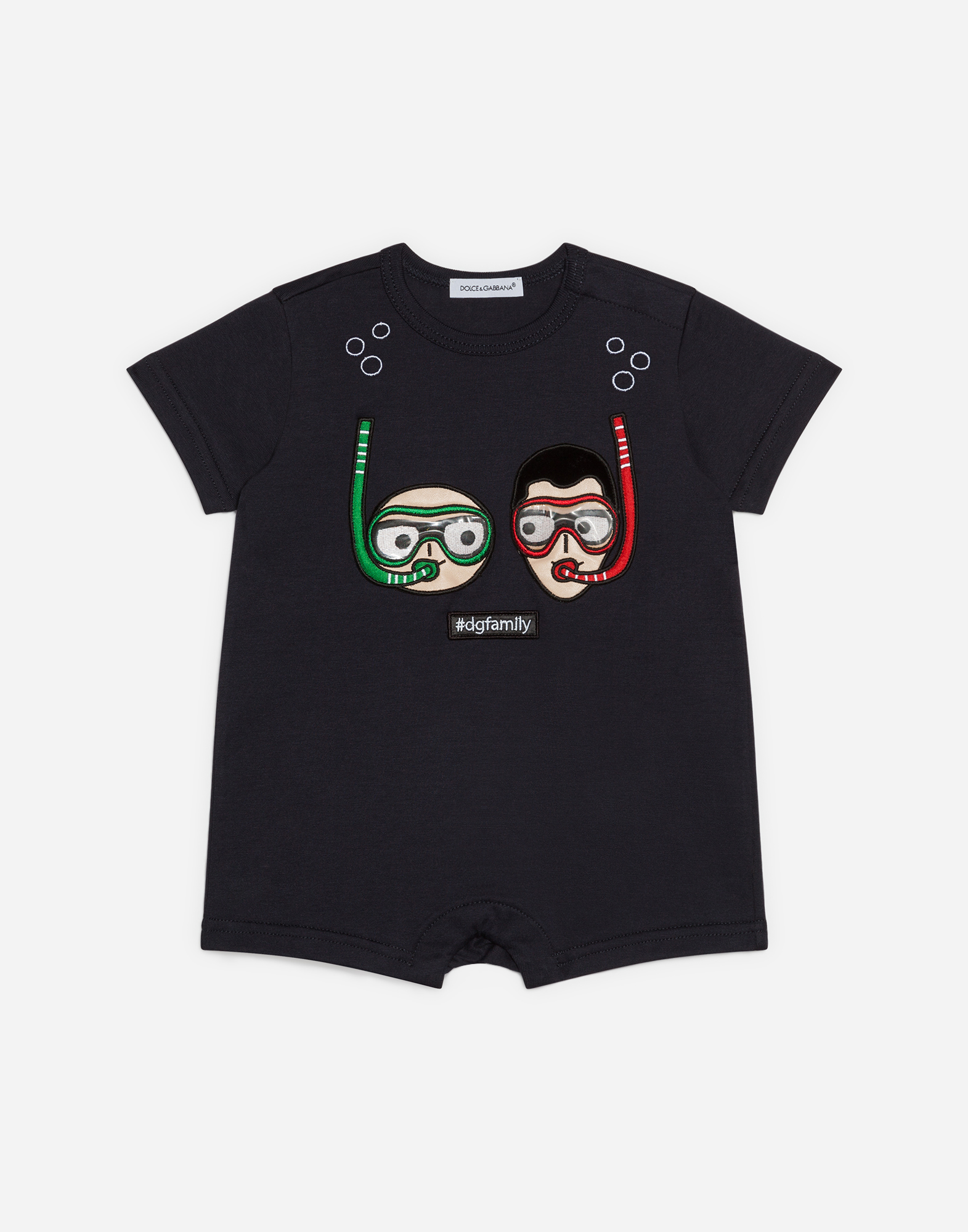Dolce & Gabbana COTTON BABYGROW WITH PATCH
