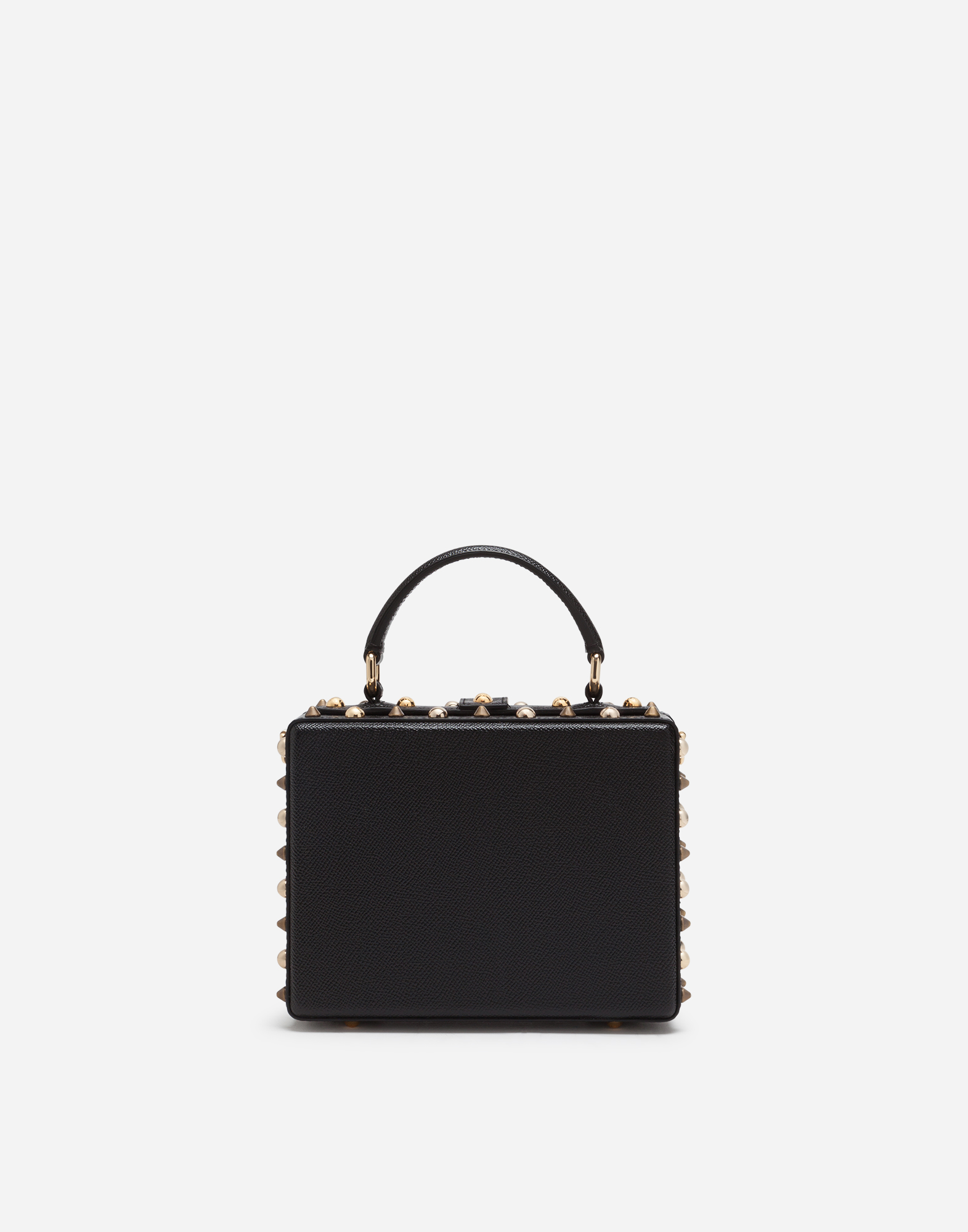 DOLCE BOX BAG IN DAUPHINE CALFSKIN WITH PATCH HEART