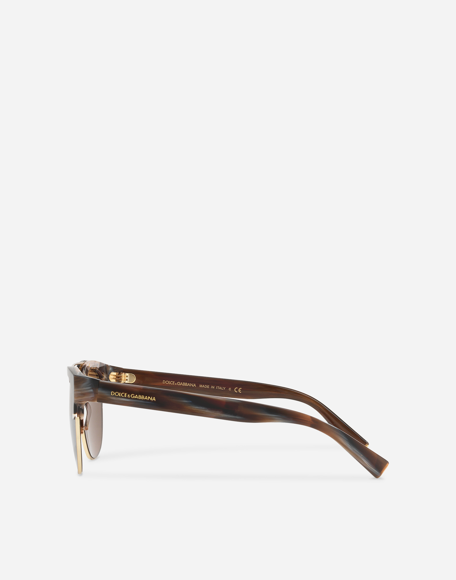 Dolce&Gabbana SQUARE SUNGLASSES WITH DOUBLE BRIDGE IN METAL