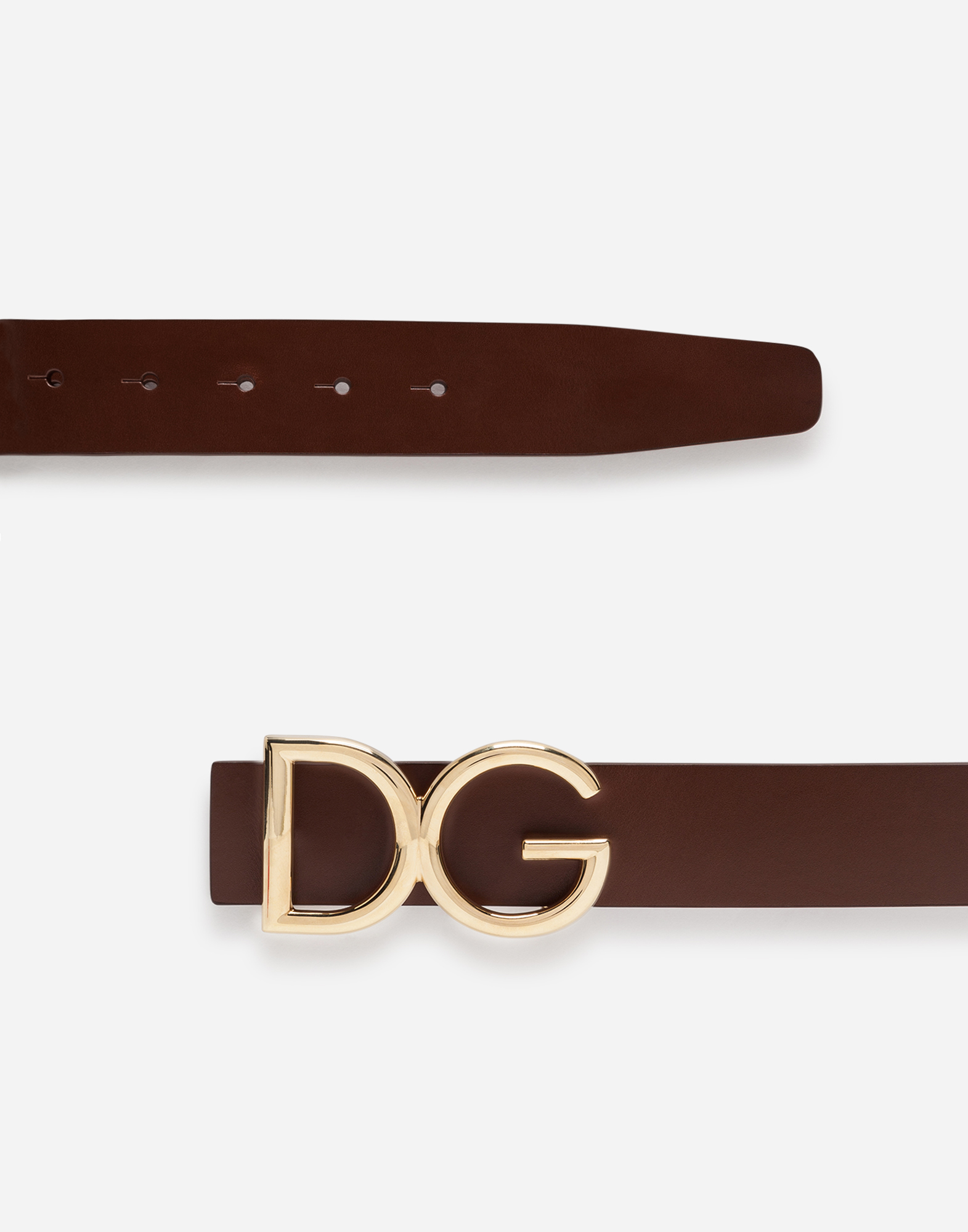 Dolce&Gabbana DAUPHINE LEATHER BELT