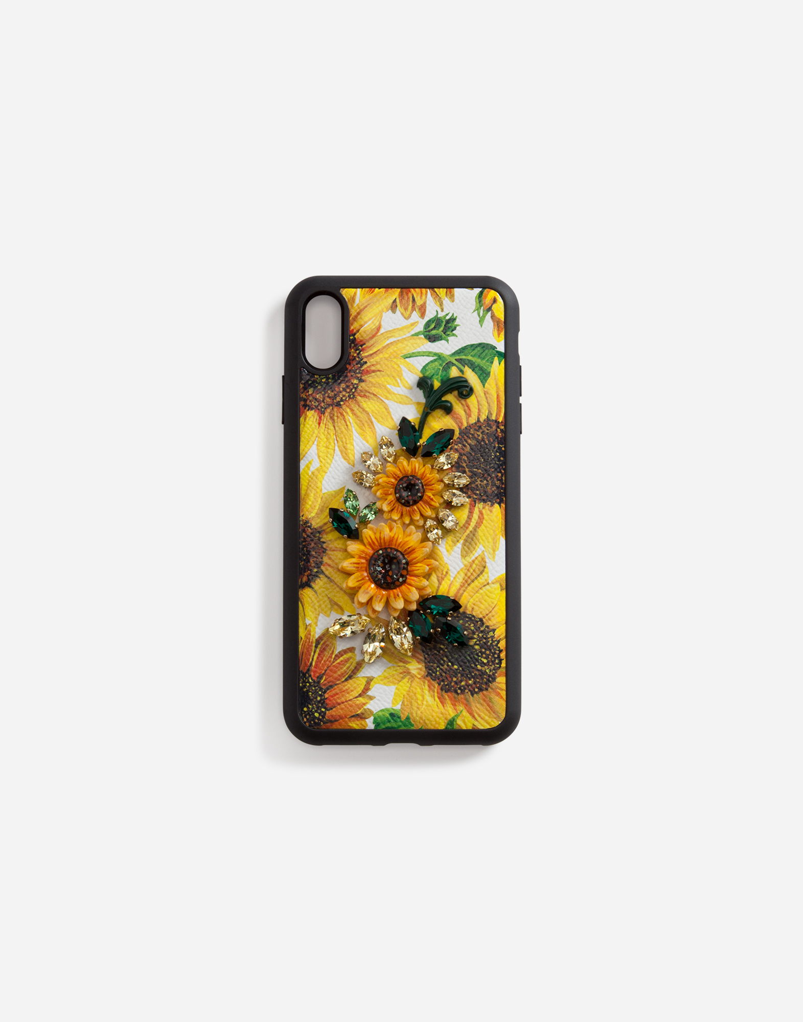 lowest price bfefe 3d77b IPHONE XS MAX COVER IN SUNFLOWER-PRINT DAUPHINE CALFSKIN