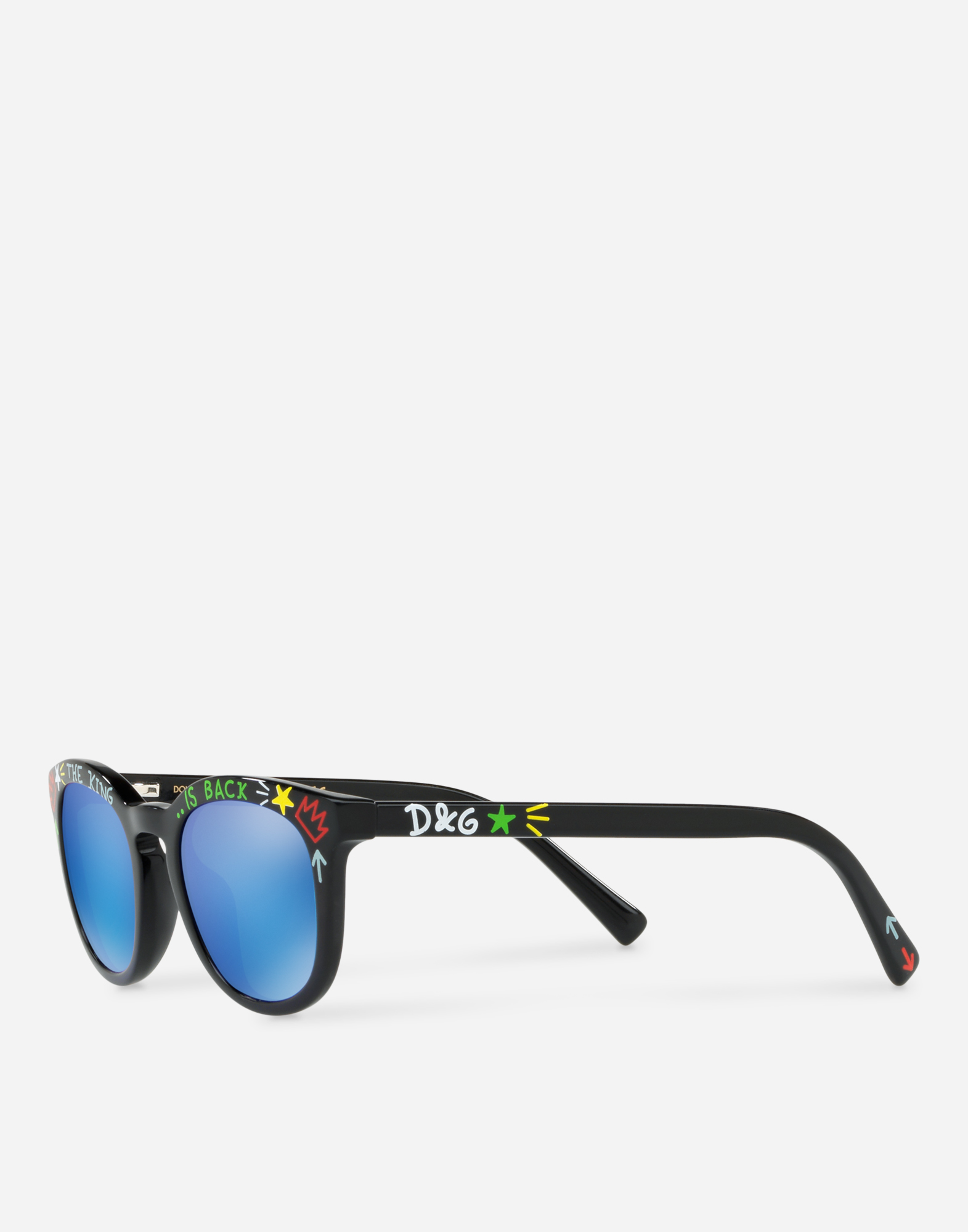 PANTHOS SUNGLASSES IN ACETATE WITH GRAFFITI PRINT