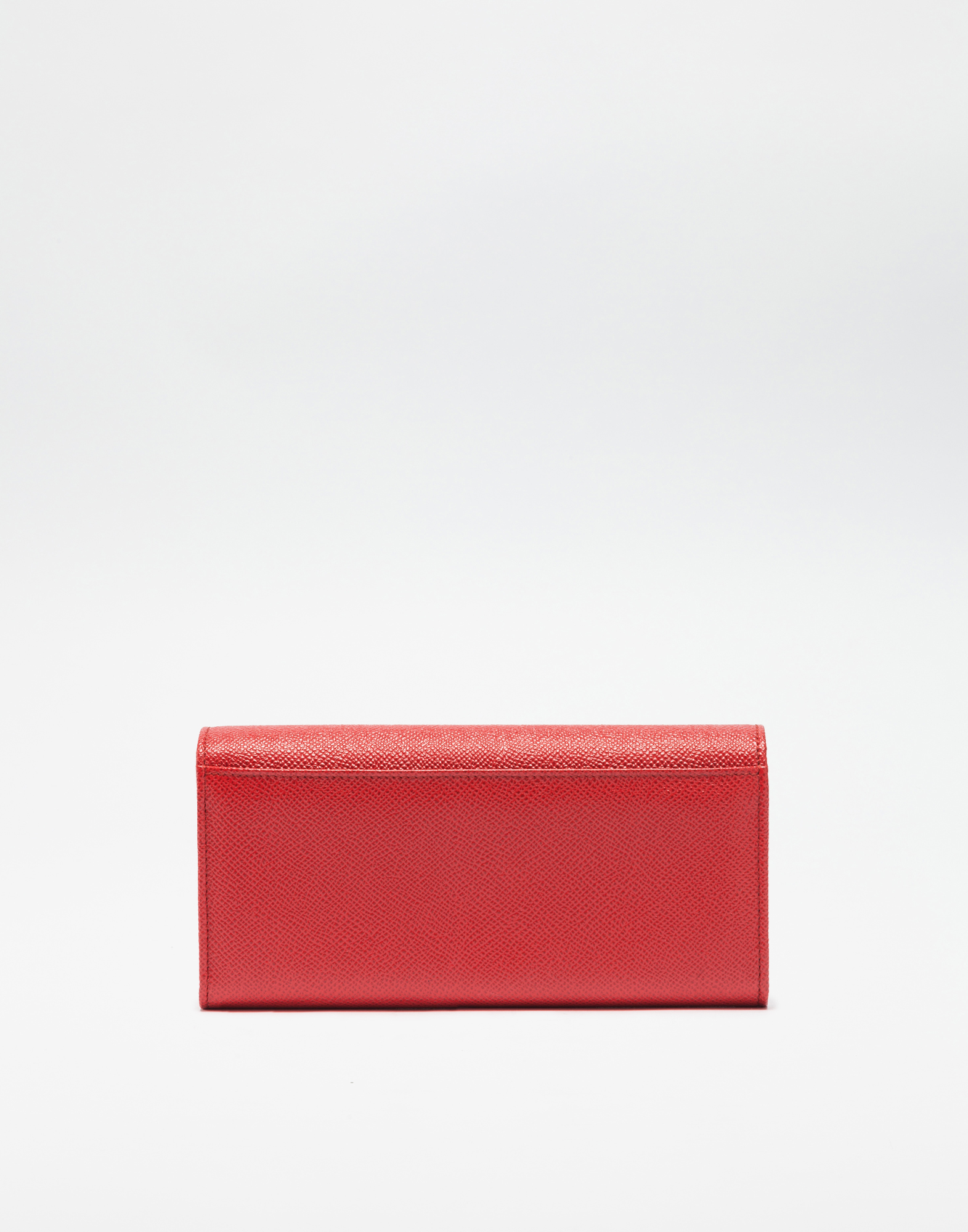 Dolce&Gabbana CONTINENTAL WALLET IN DAUPHINE LEATHER