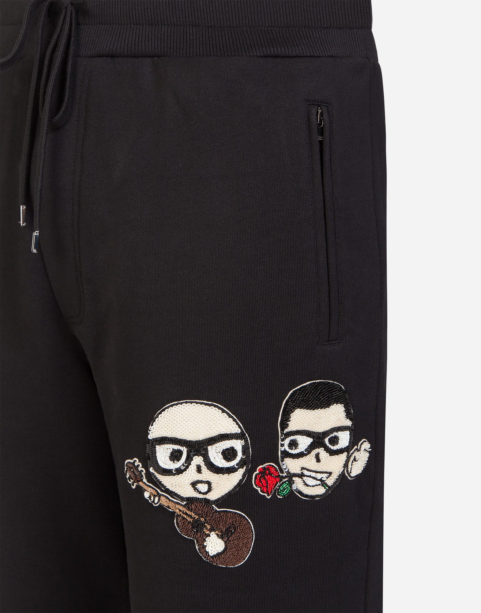 Dolce & Gabbana COTTON JOGGING PANTS WITH DESIGNERS' PATCHES