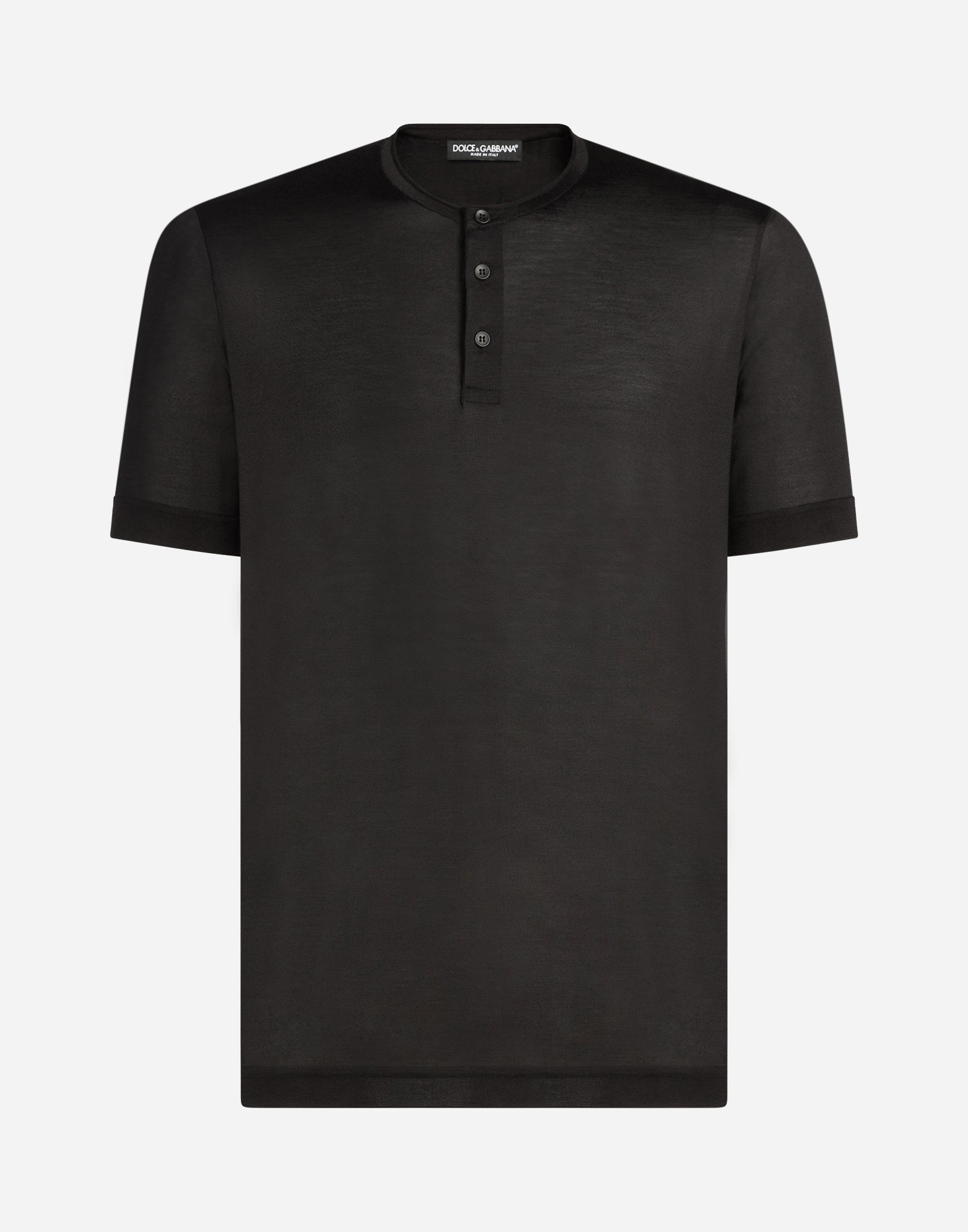 SILK HENLEY T-SHIRT