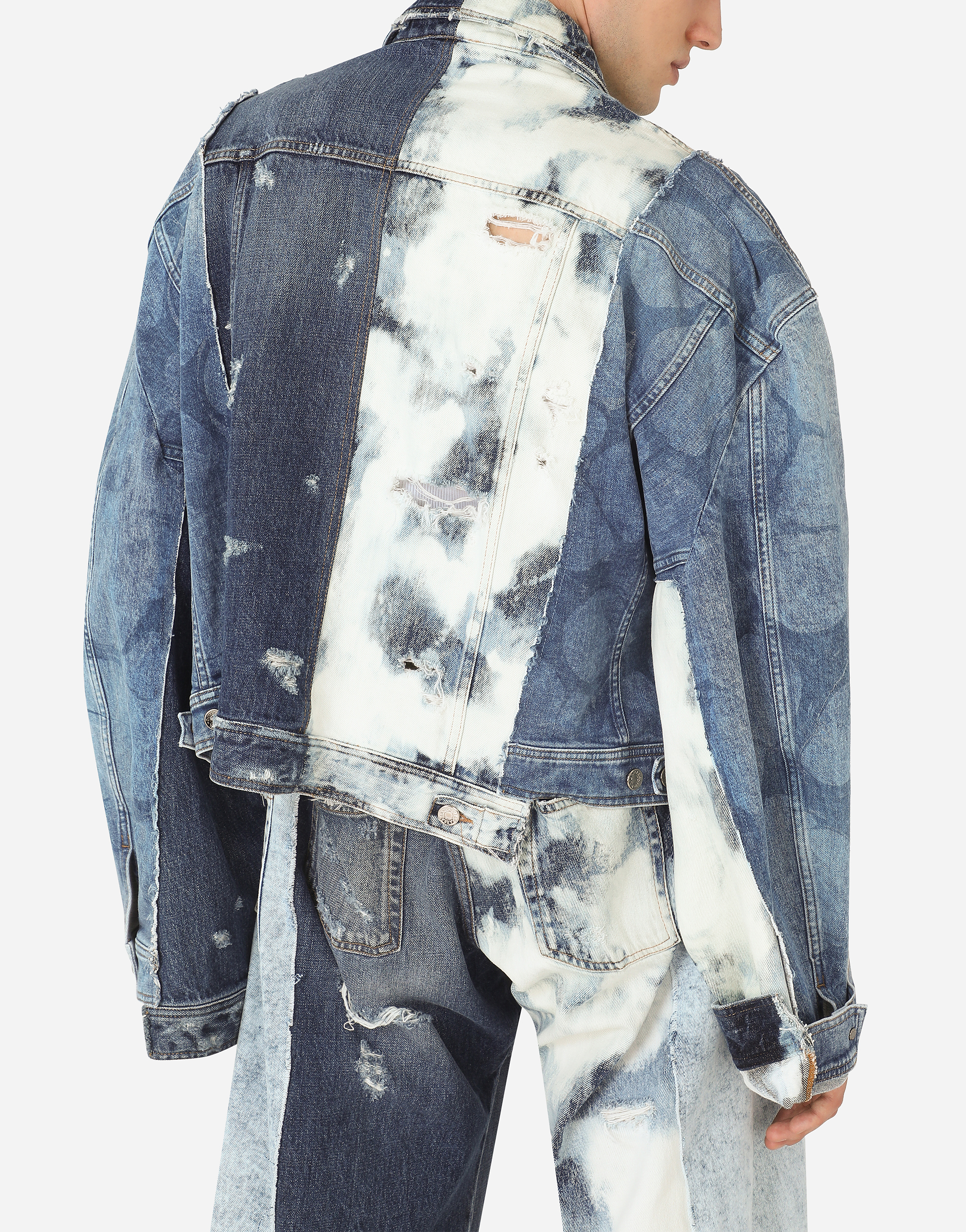 Mod Details about  /Dolce/&Gabbana Gold Jean Man Blue 5 Pockets Buttons Denim G6LBLZG8S78S9001