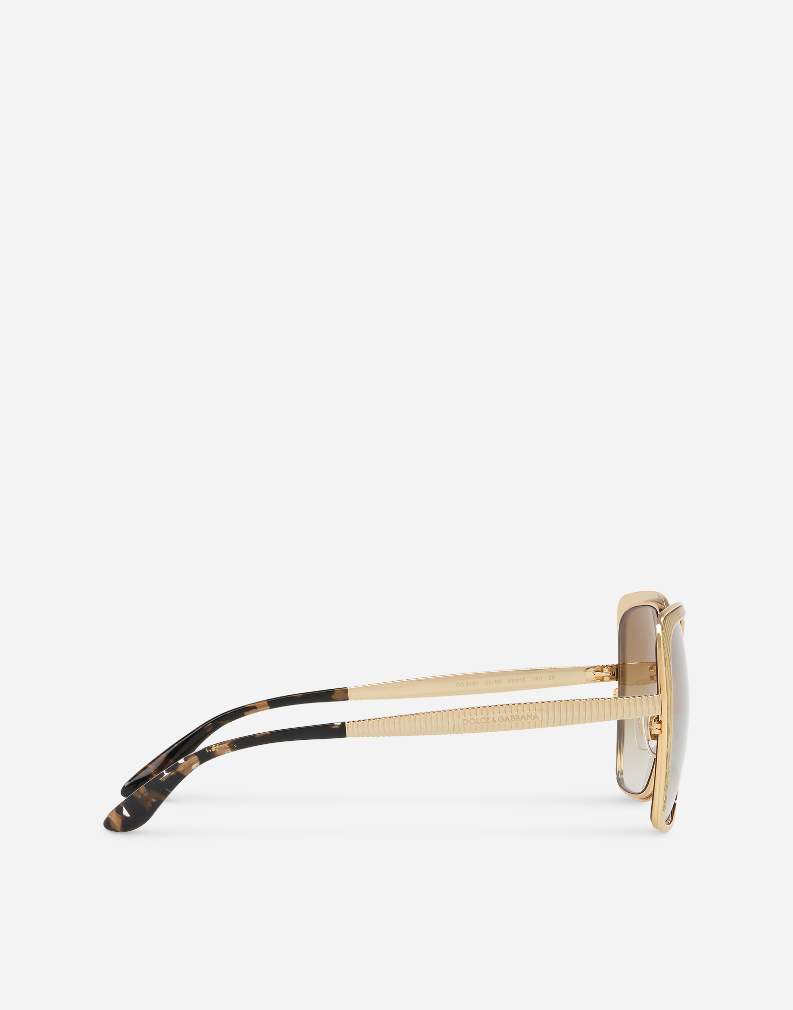 Dolce & Gabbana BUTTERFLY SHAPED SUNGLASSES WITH GROS GRAIN DETAIL