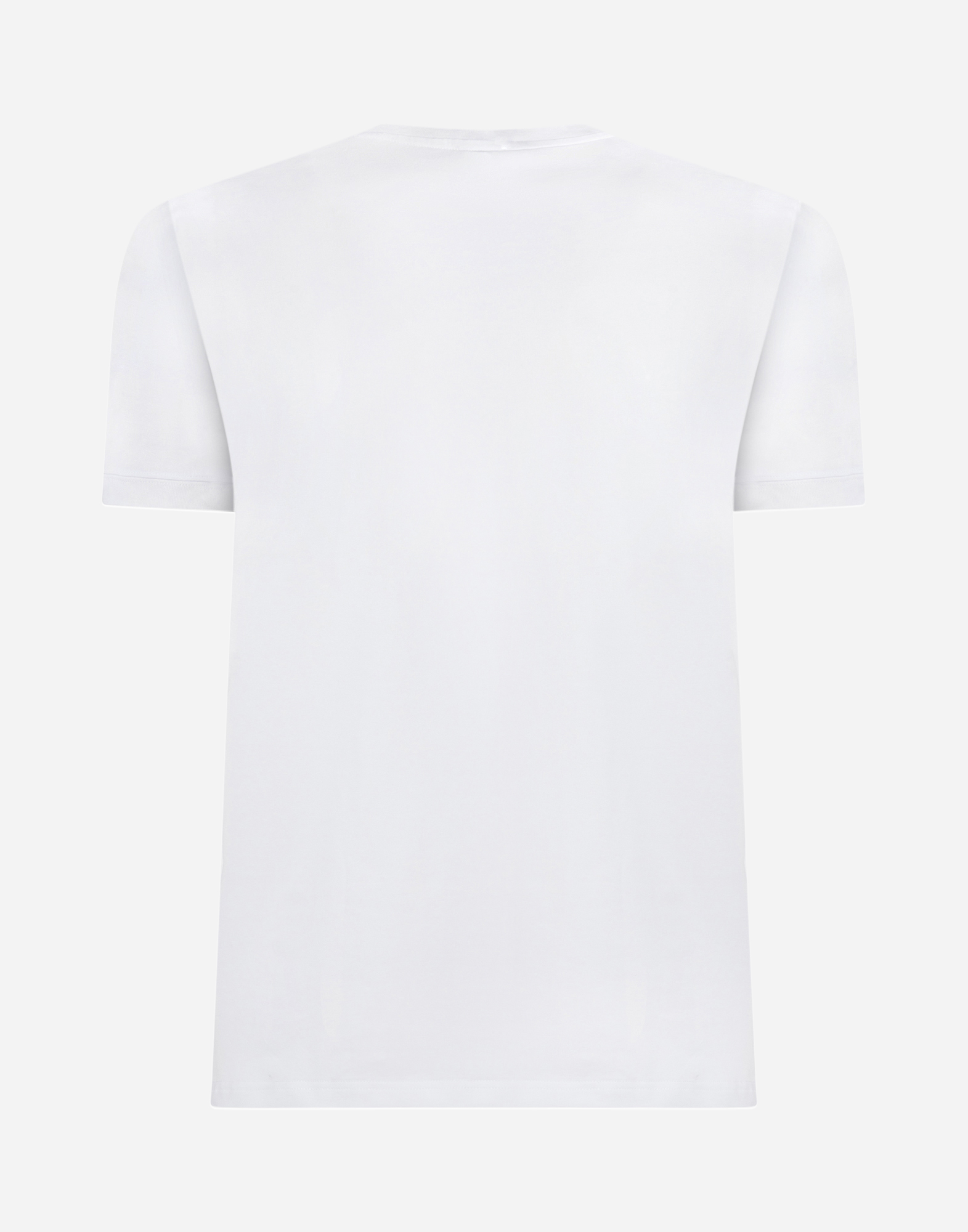 Dolce & Gabbana CREW NECK T-SHIRT IN COTTON WITH EMBROIDERY