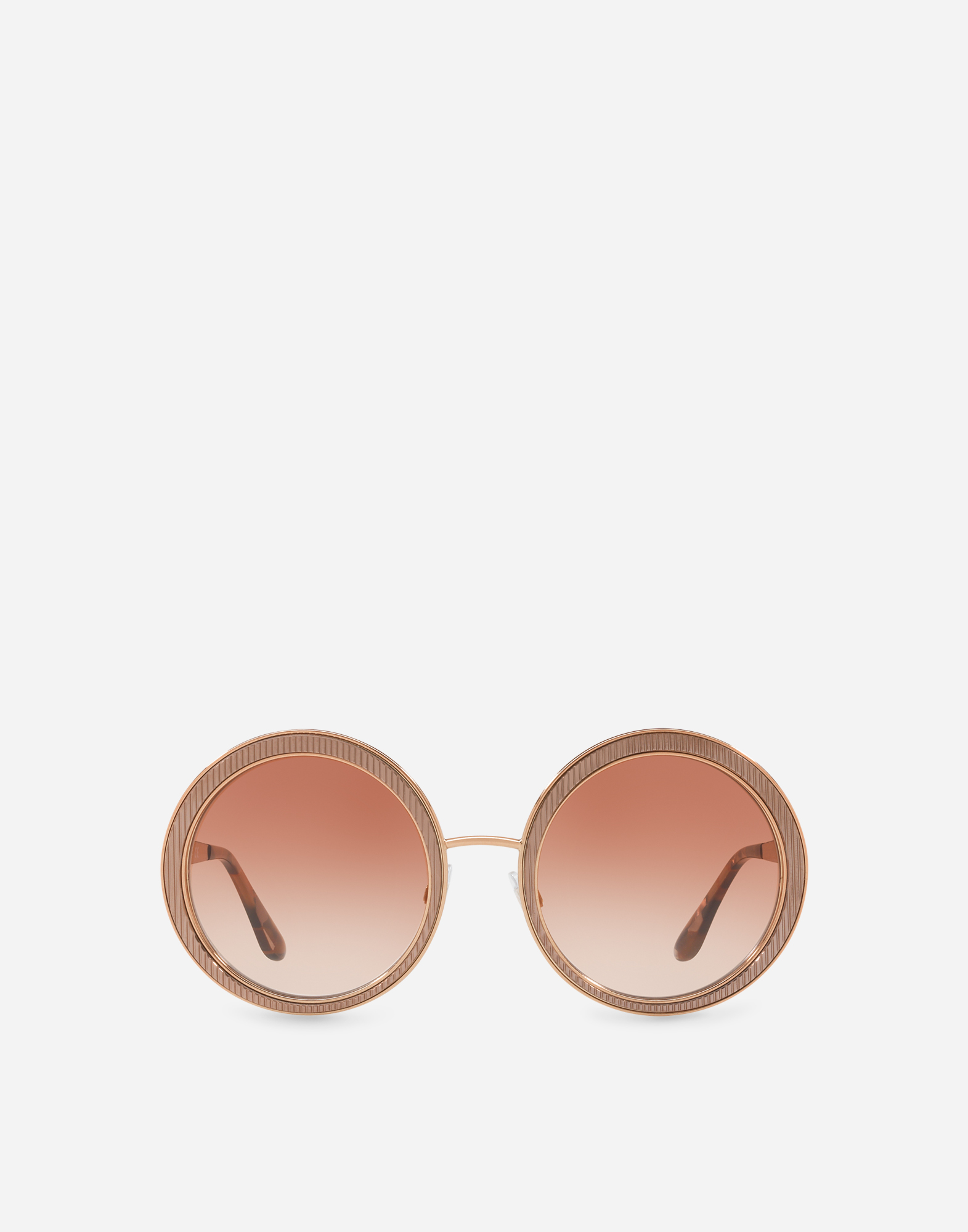 COPPER-PINK ROUND SUNGLASSES