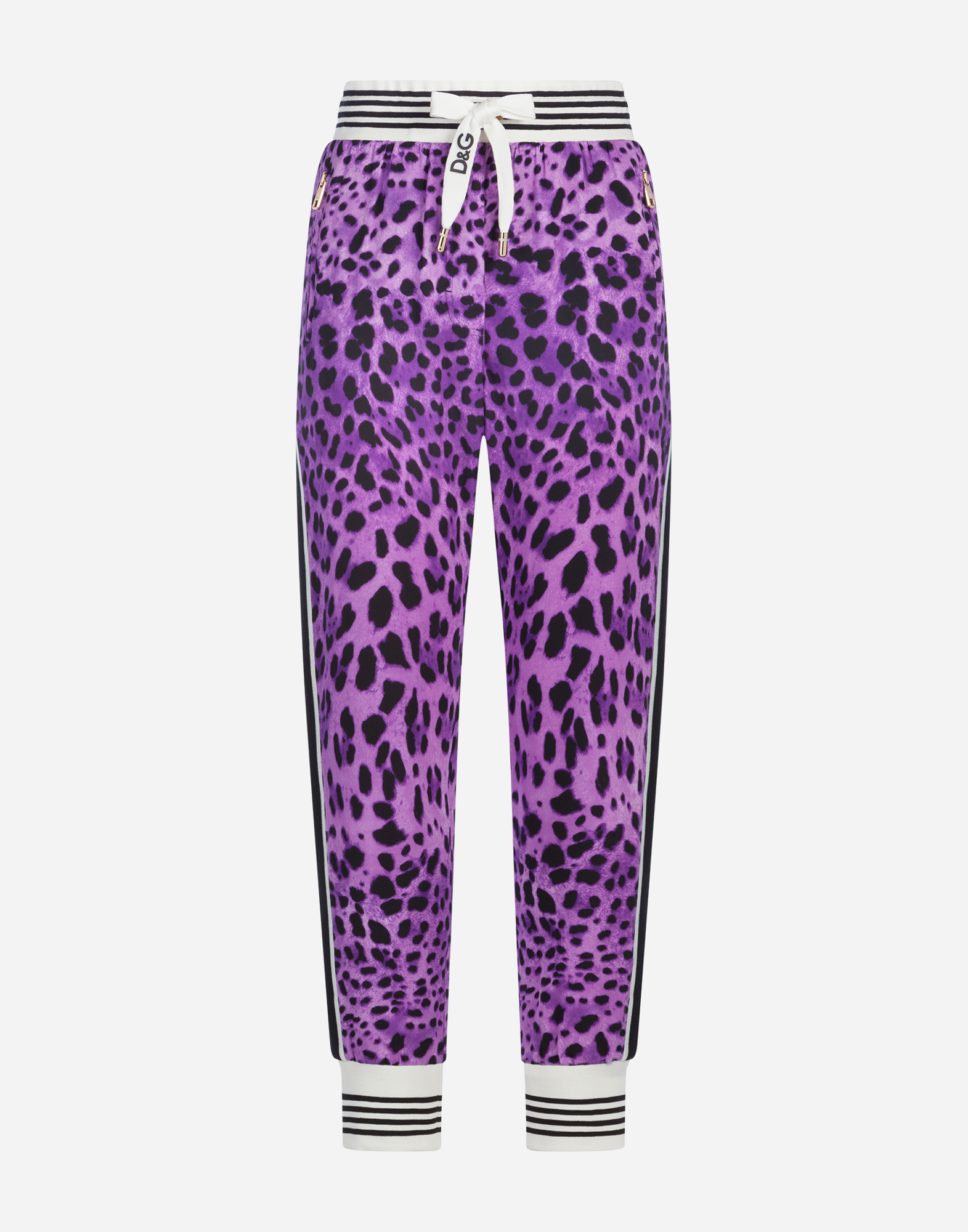 Dolce&Gabbana SPORTS PANTS IN PRINTED CADY