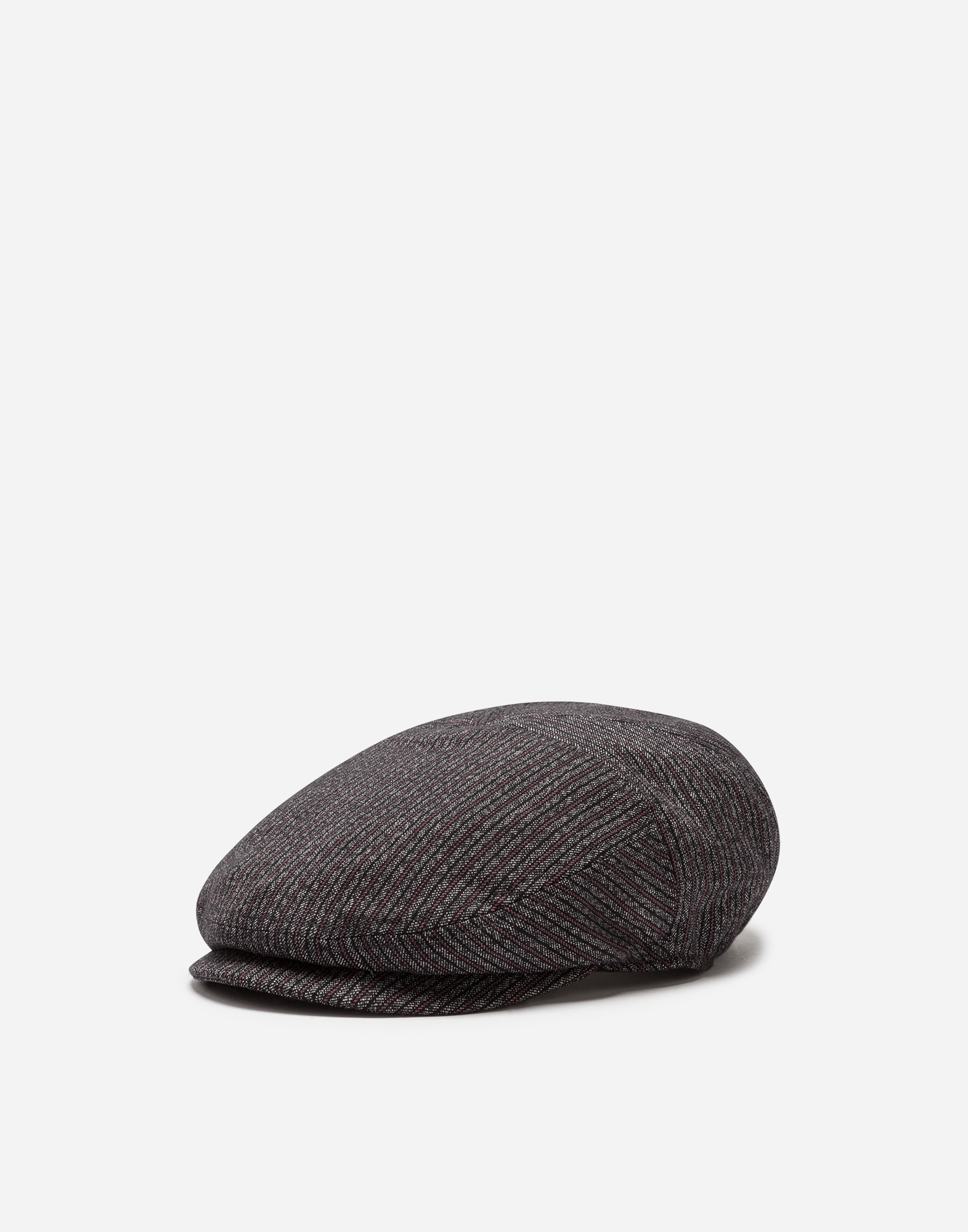 FLAT CAP IN COTTON AND STRETCH WOOL