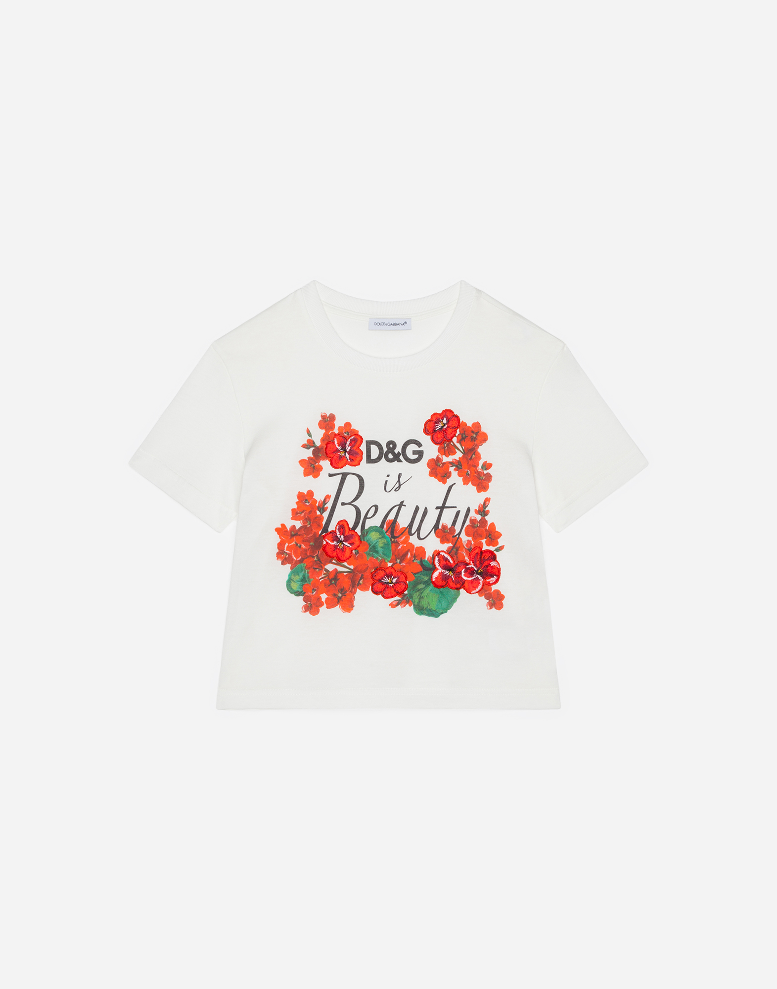 Girls T Shirts And Sweatshirts Dolcegabbana Printed Cotton T Shirt