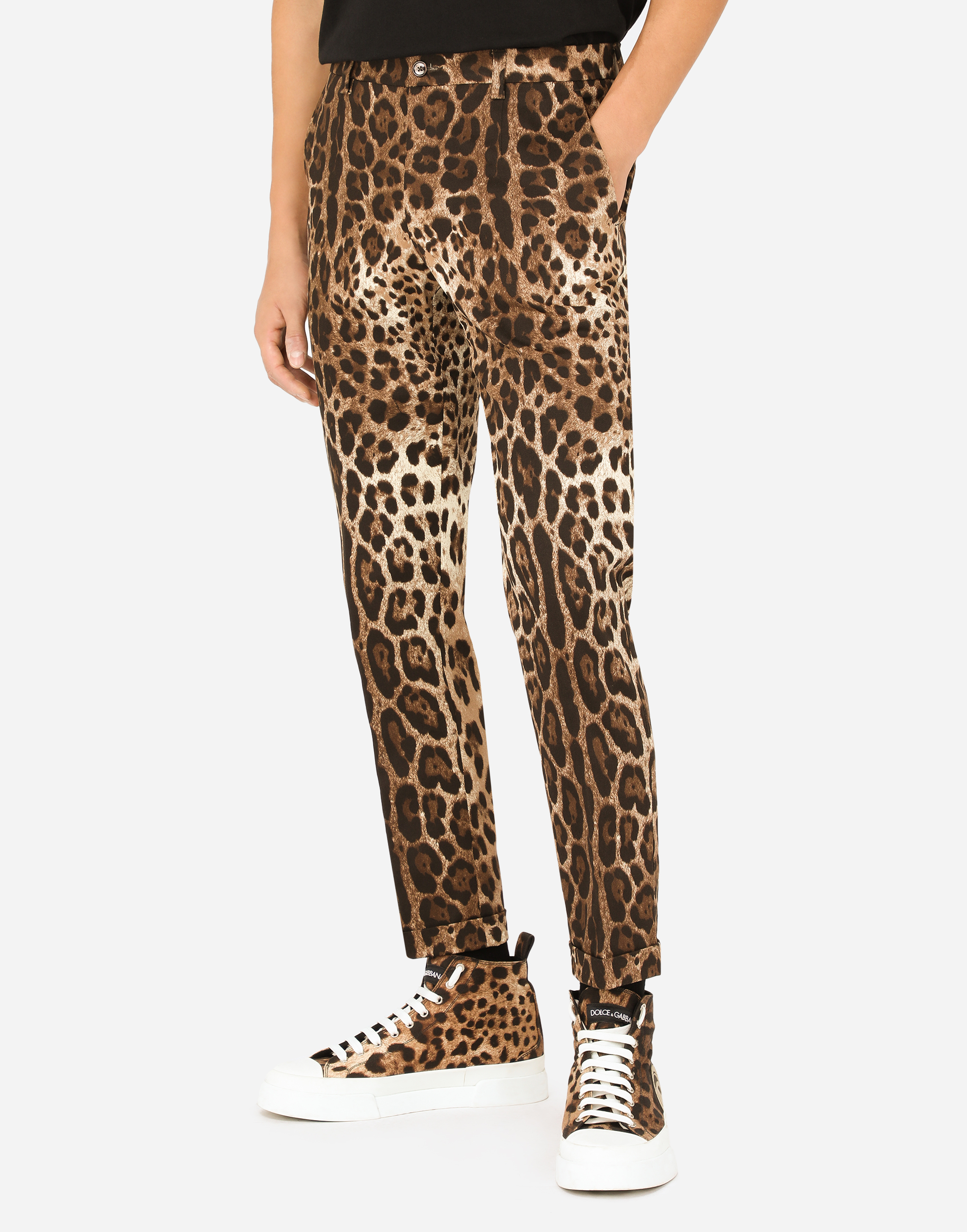 Dolce&Gabbana PRINTED COTTON PANTS