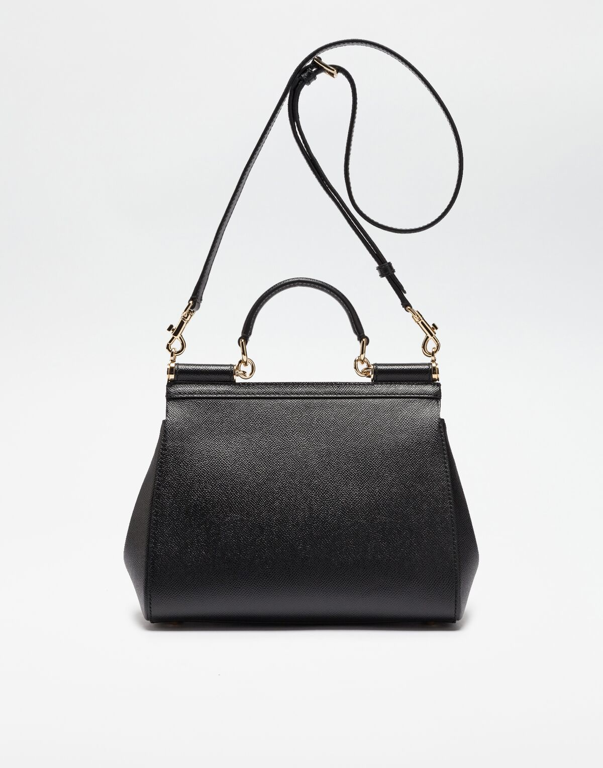 Dolce & Gabbana MEDIUM SICILY HANDBAG IN DAUPHINE LEATHER