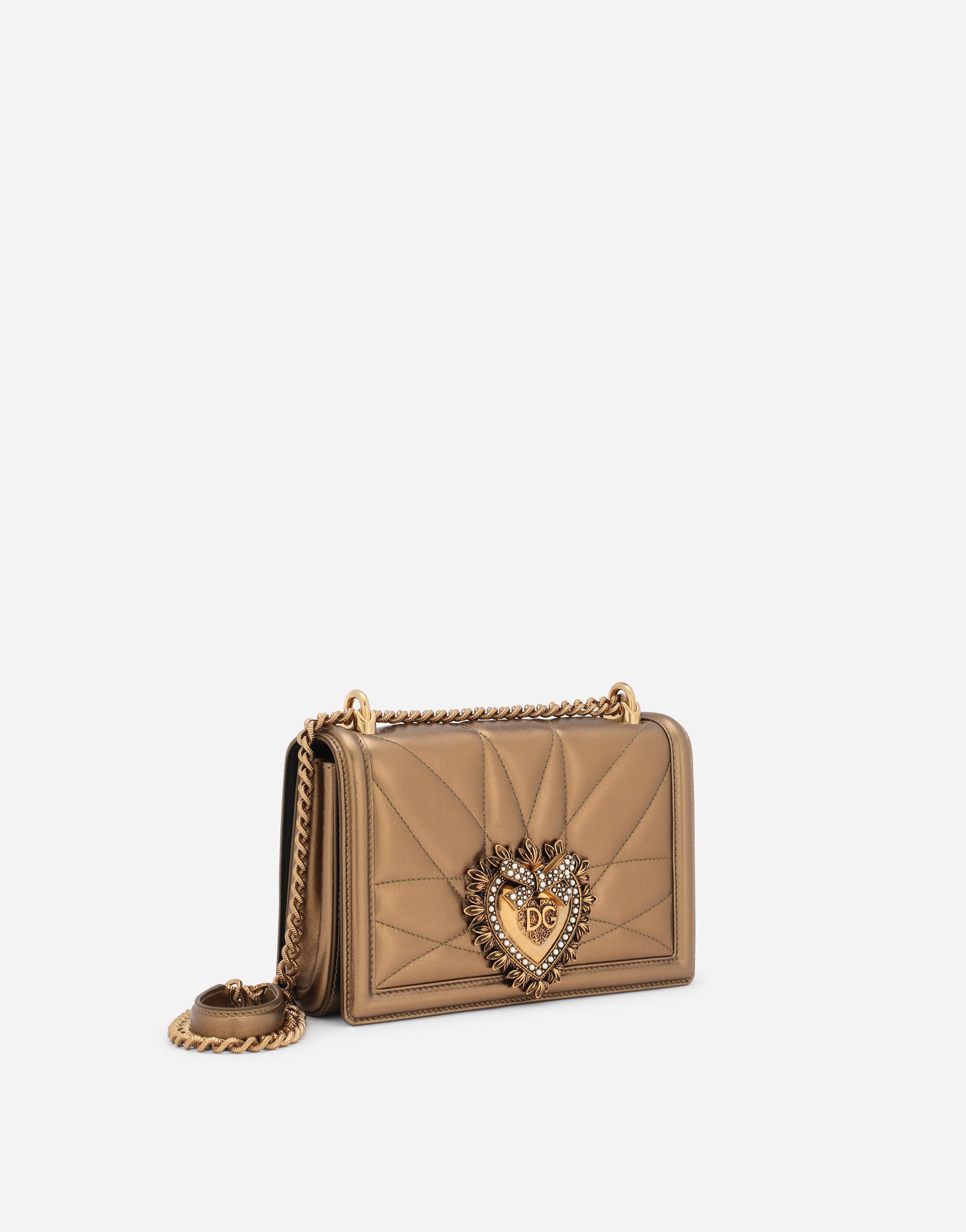 Dolce&Gabbana MEDIUM DEVOTION BAG IN QUILTED NAPPA MORDORÉ