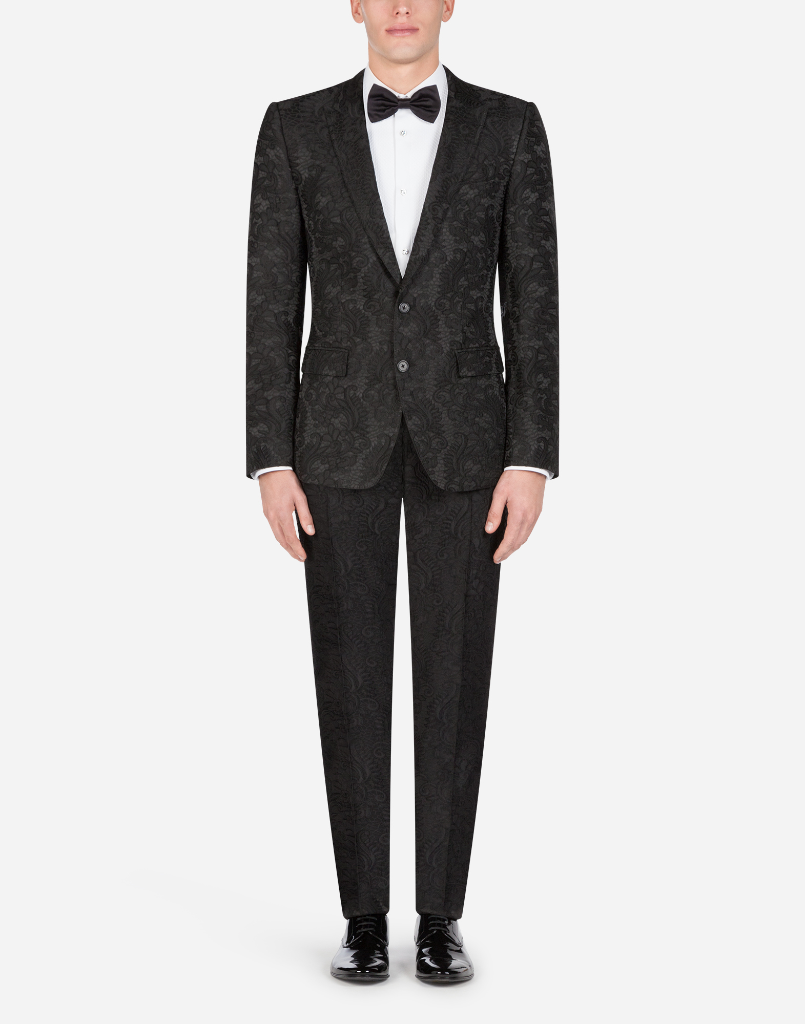 Dolce&Gabbana GOLD-FIT TUXEDO SHIRT IN COTTON WITH EMBROIDERY