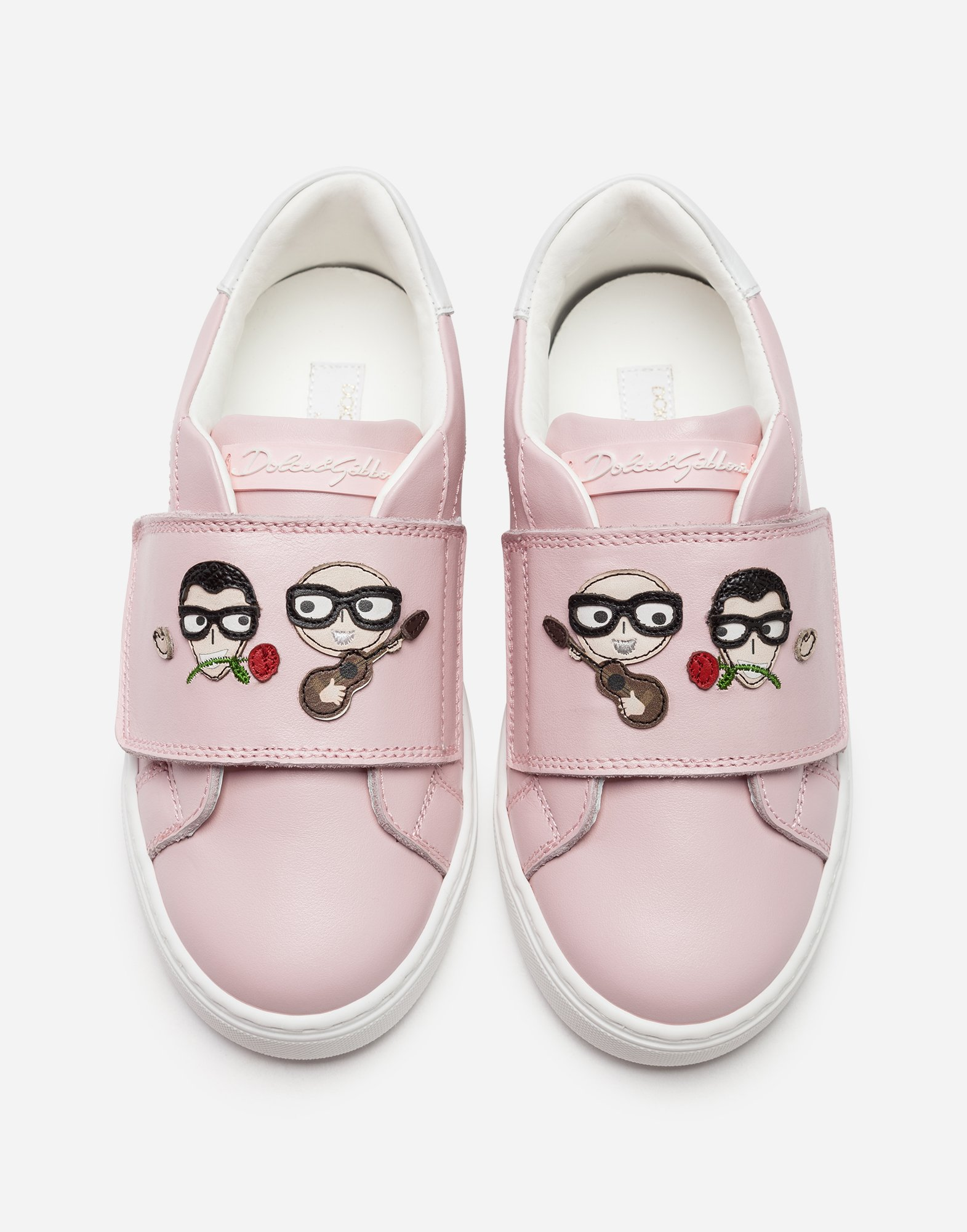 Dolce & Gabbana LEATHER SNEAKERS WITH PATCH