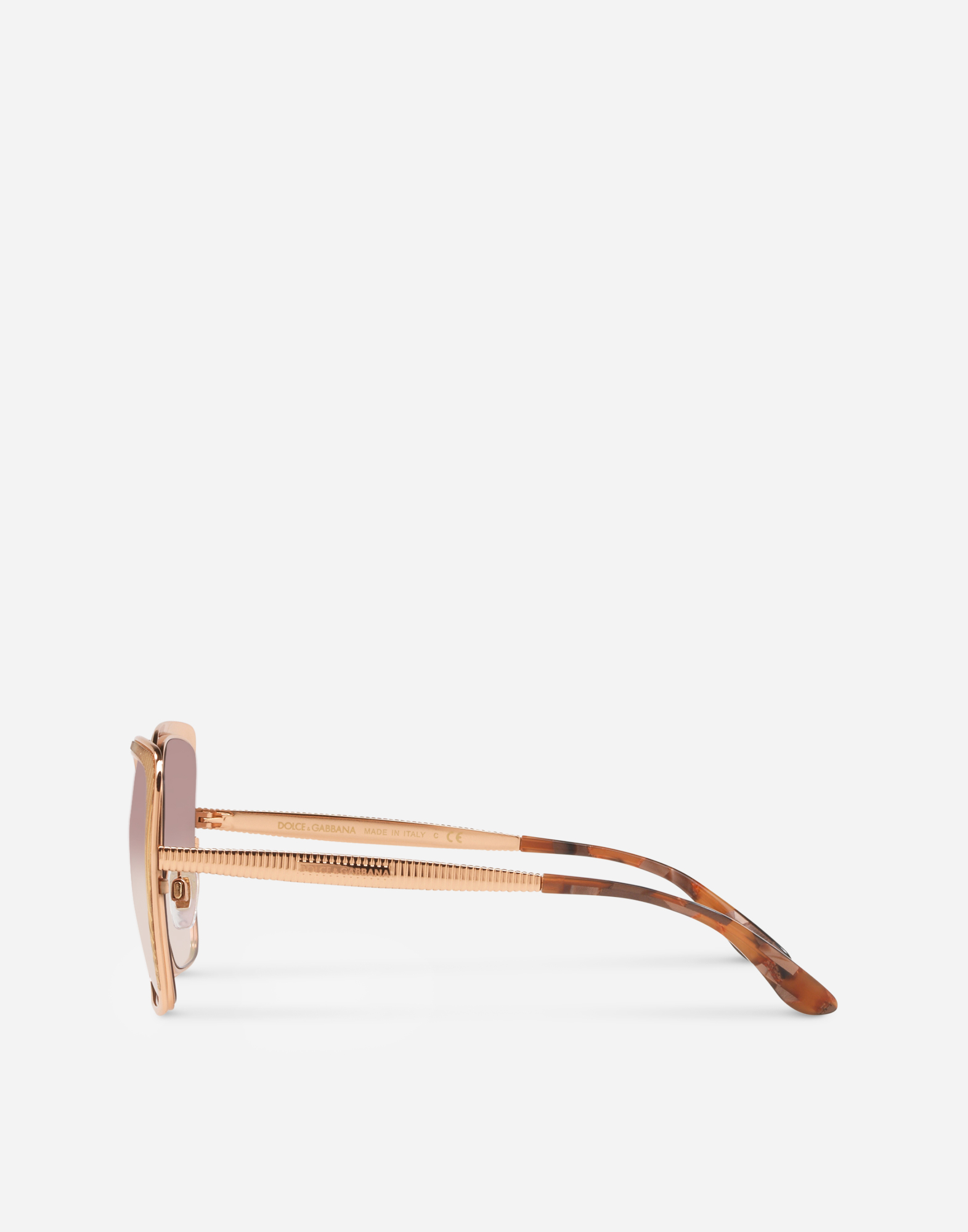 BUTTERFLY SHAPED SUNGLASSES WITH GROS GRAIN DETAIL