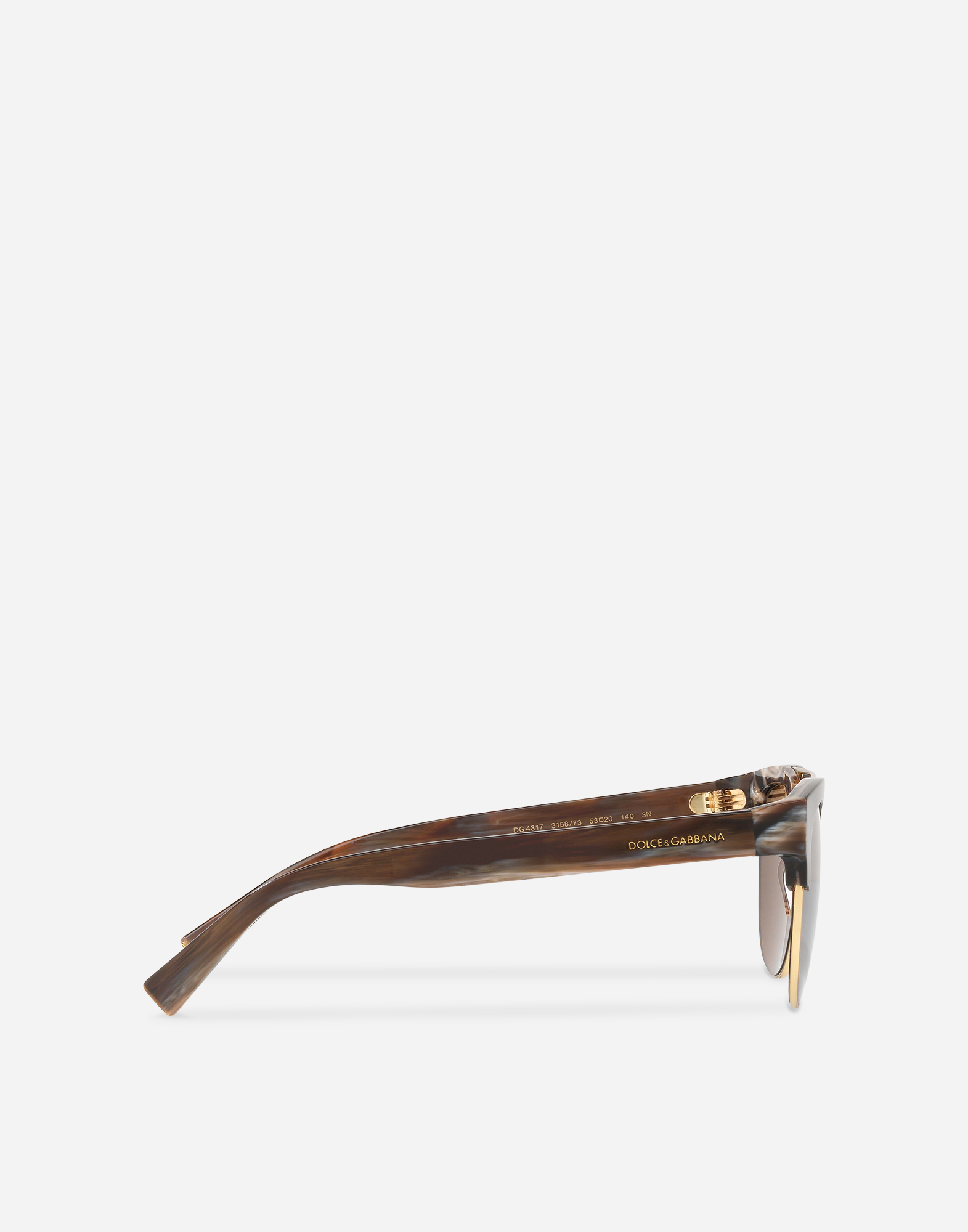 SQUARE SUNGLASSES WITH DOUBLE BRIDGE IN METAL