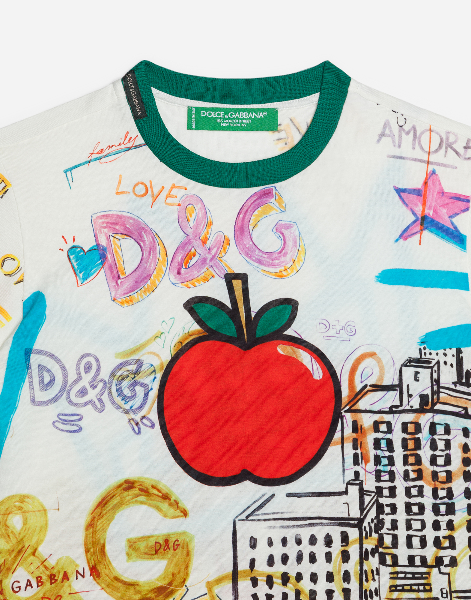 Dolce&Gabbana PRINTED T-SHIRT IN COTTON
