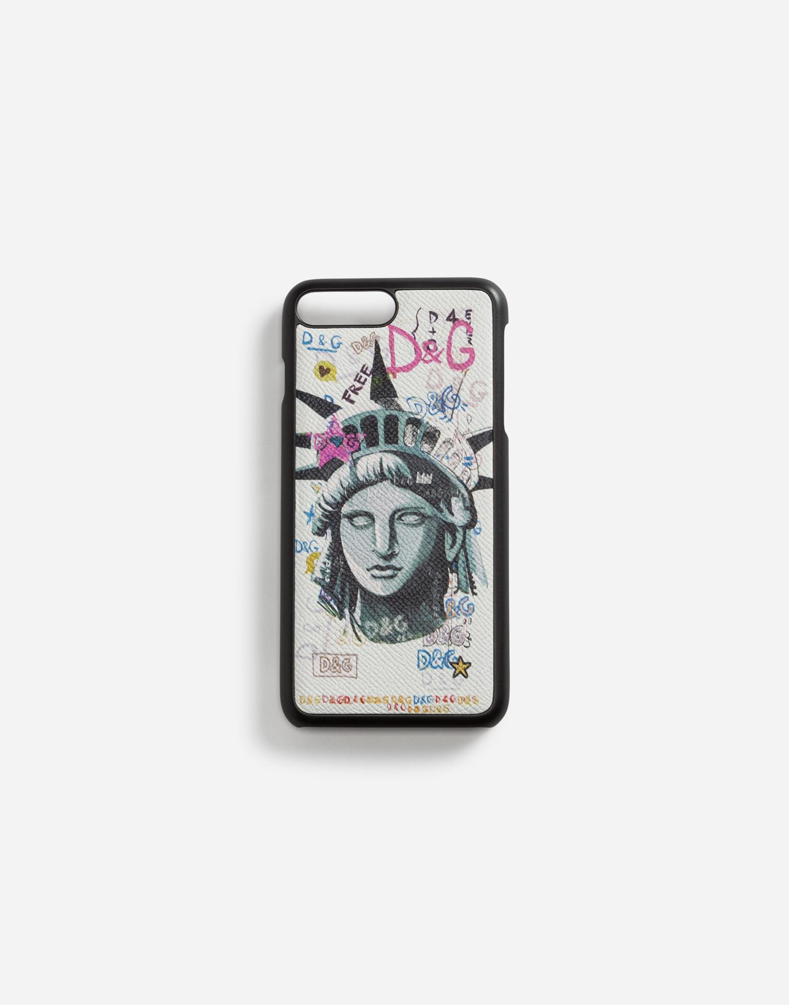 IPHONE 7 PLUS COVER IN PRINTED DAUPHINE CALFSKIN
