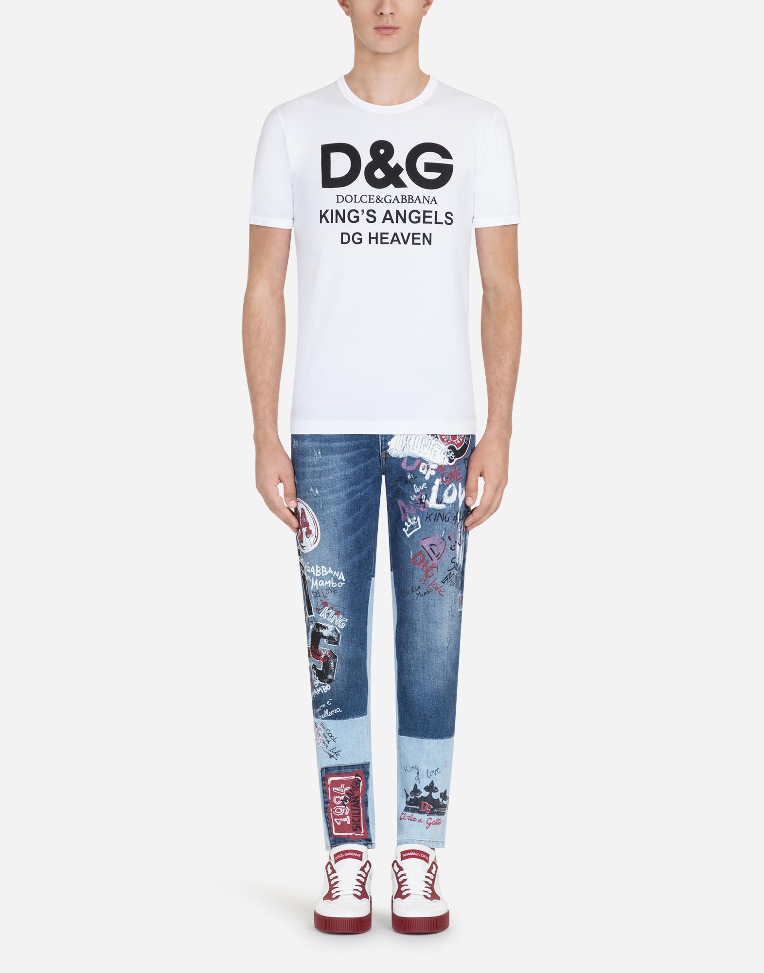 Dolce&Gabbana COTTON T-SHIRT WITH D&G PRINT
