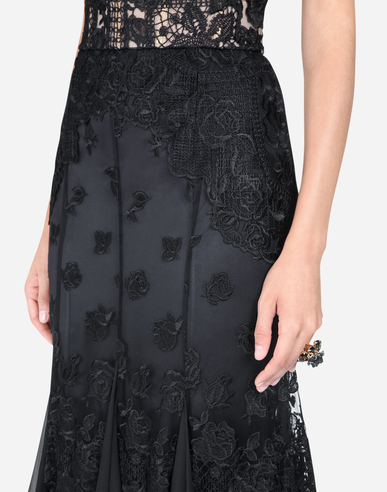 Dolce & Gabbana EMBROIDERED TULLE DRESS