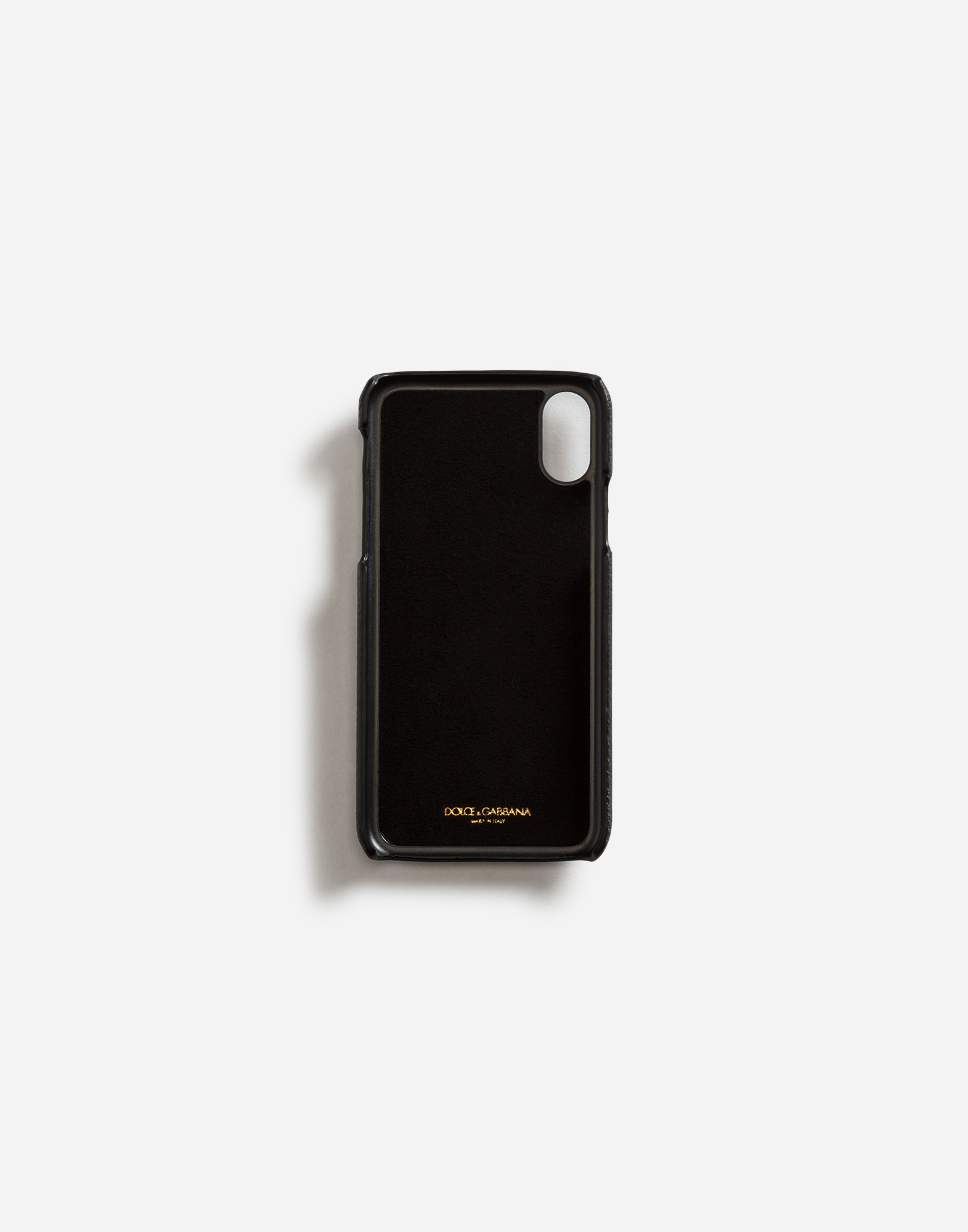 CALFSKIN IPHONE X COVER WITH HEART PATCH