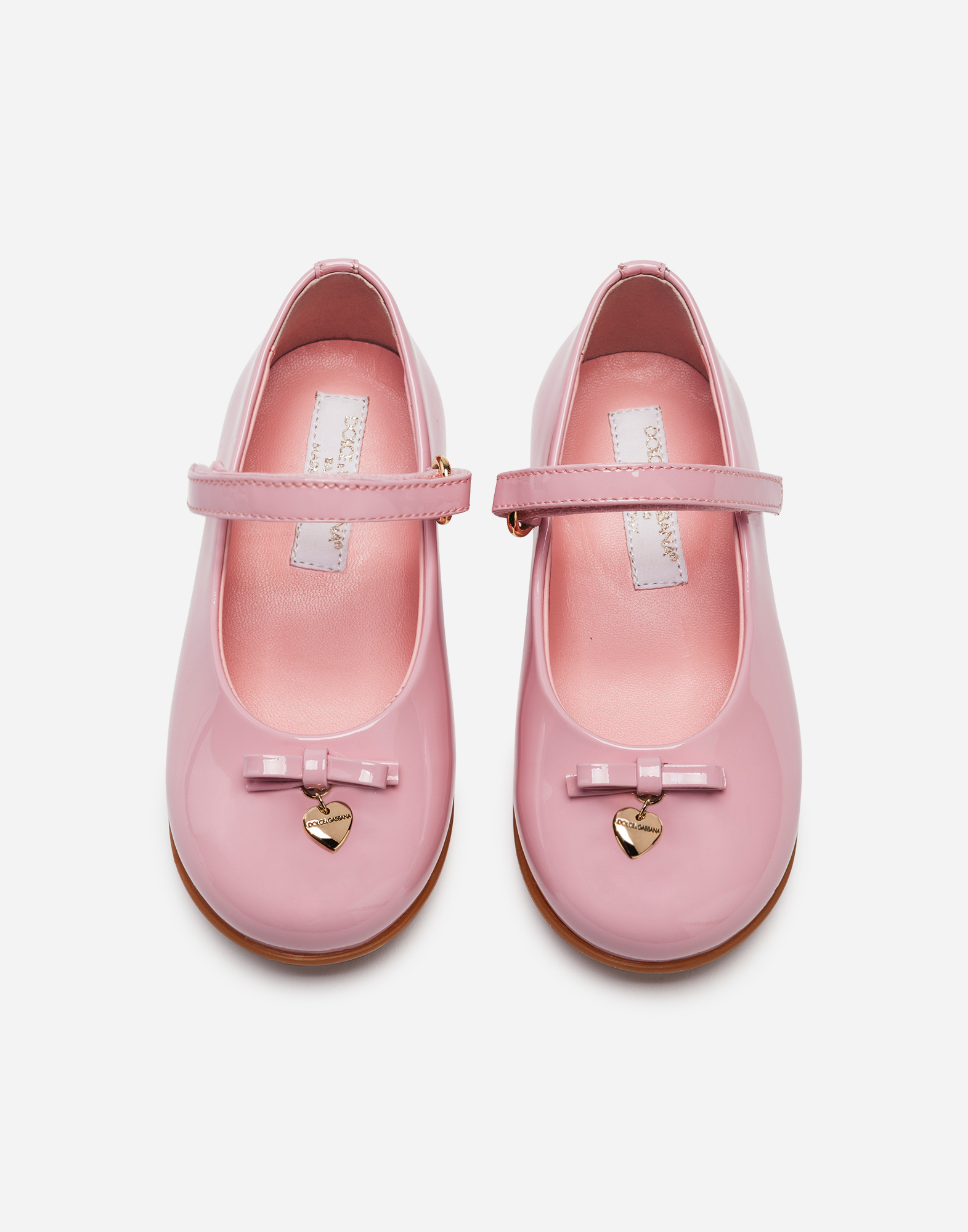 FIRST STEPS BALLET FLATS IN PATENT LEATHER WITH BOW