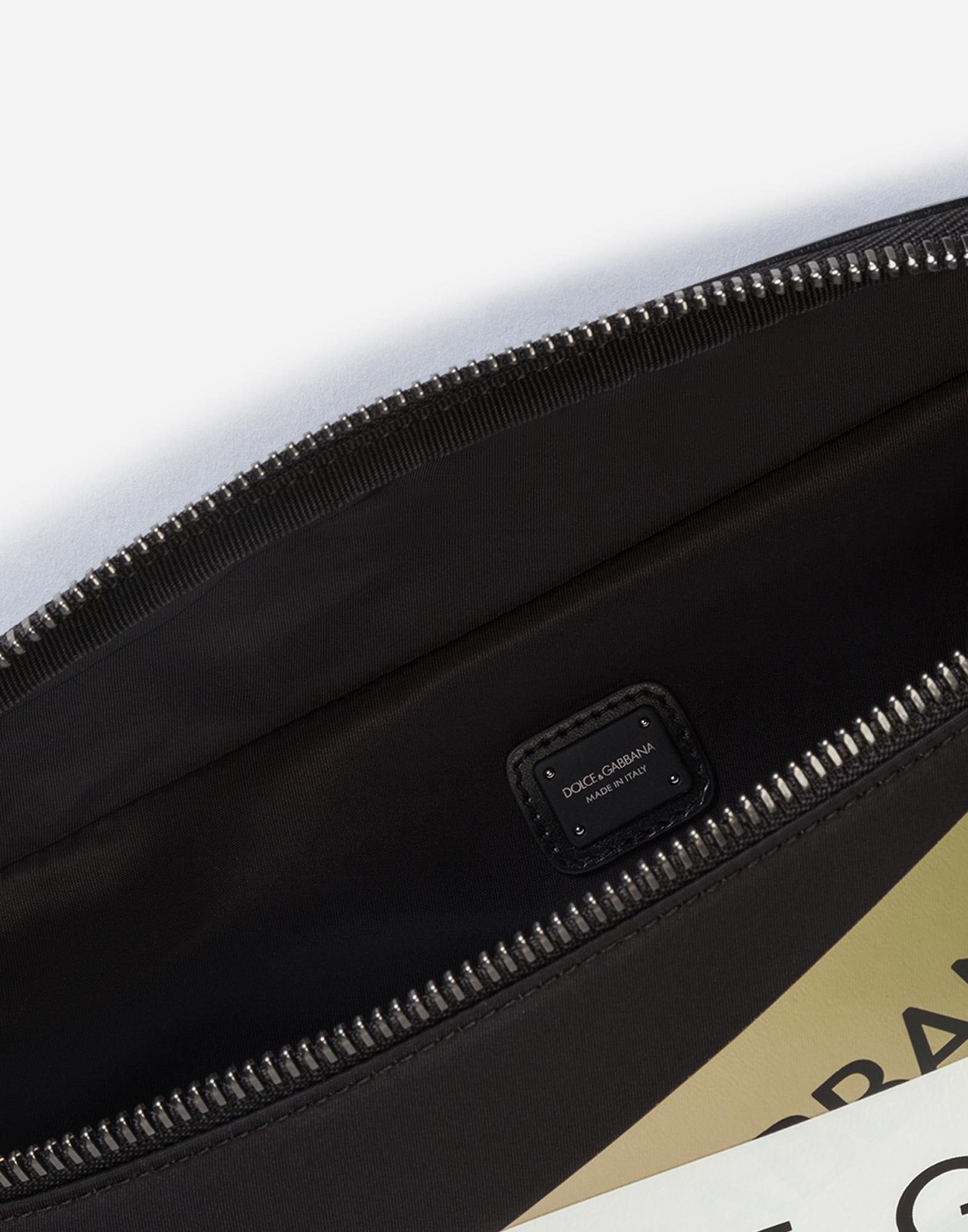 Dolce & Gabbana STREET POUCH IN PRINTED NYLON