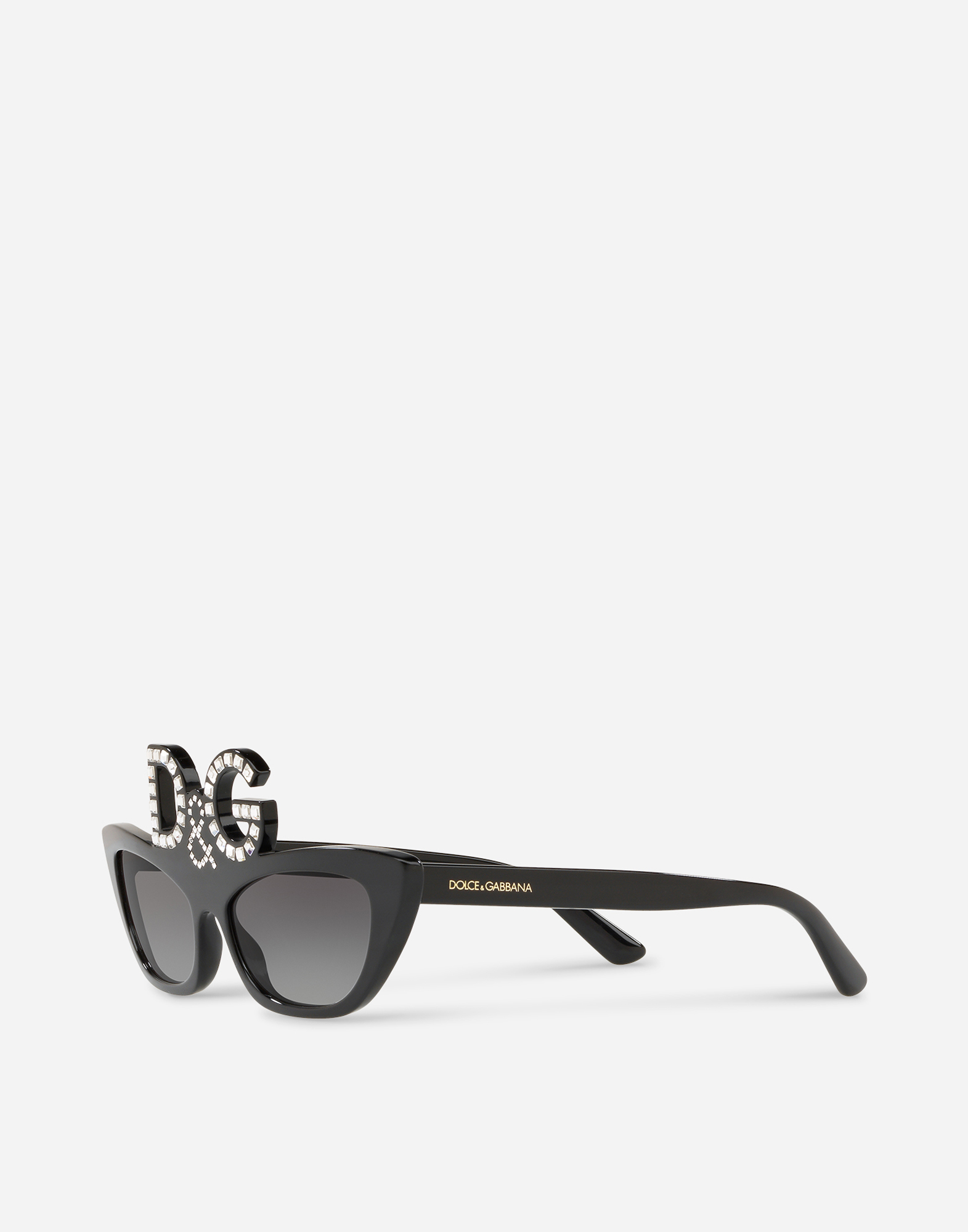 Dolce & Gabbana CAT-EYE SUNGLASSES EMBELLISHED BY CRYSTALS