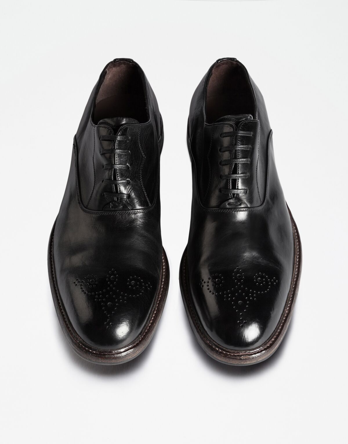 COLOUR DIPPED LEATHER OXFORDS
