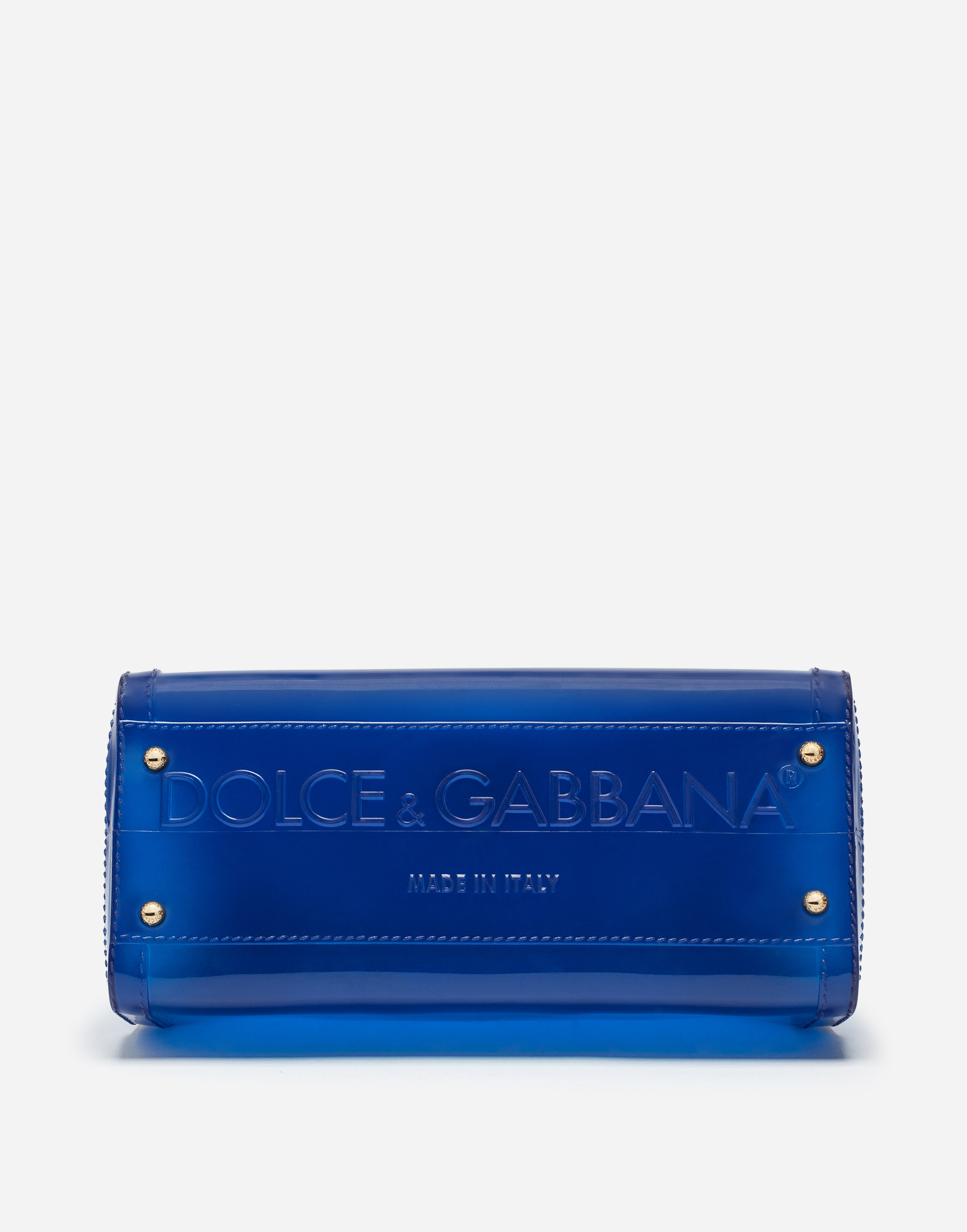 Dolce&Gabbana SEMI-TRANSPARENT RUBBER SICILY HANDBAG