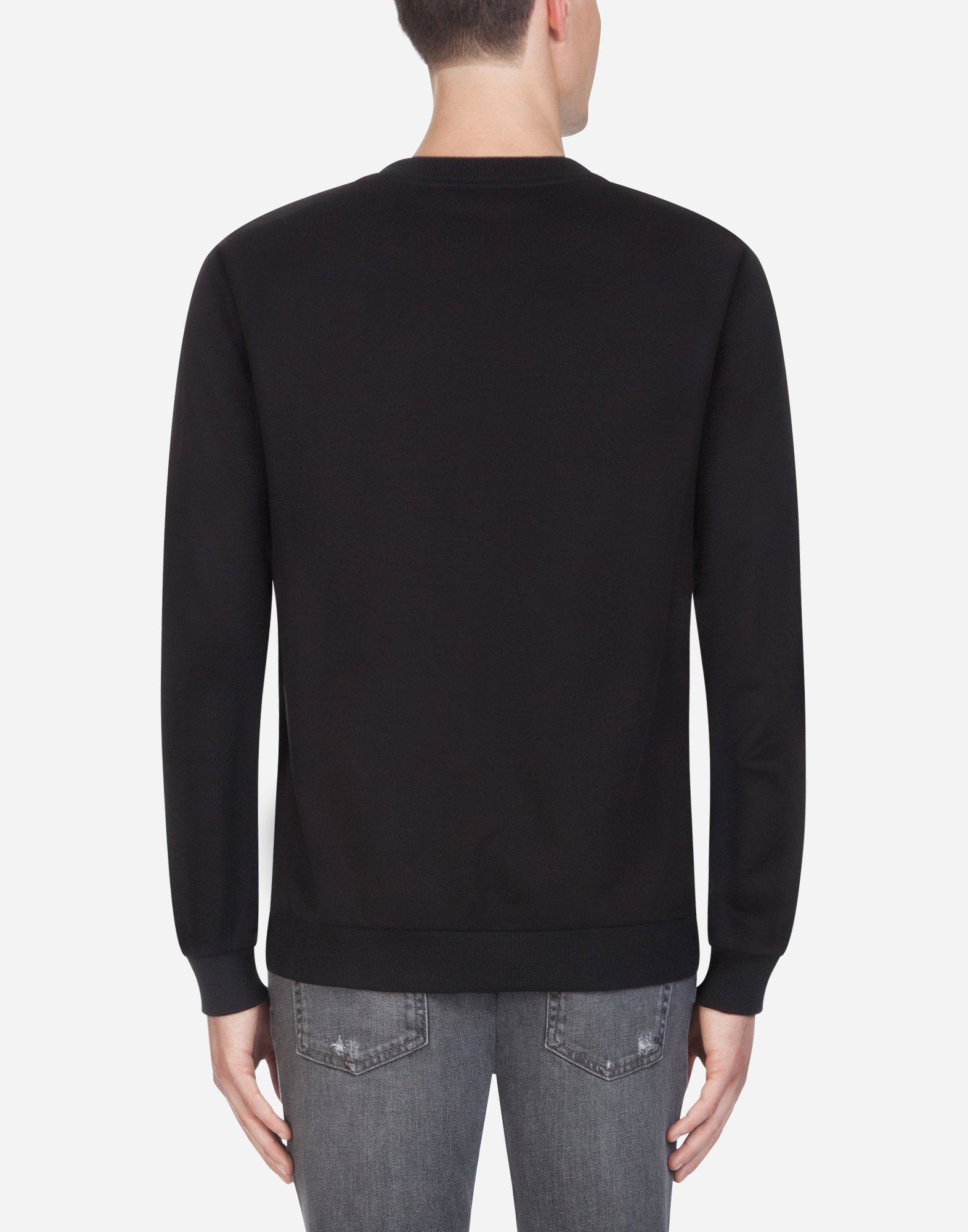 Dolce & Gabbana COTTON SWEATSHIRT WITH EMBROIDERY