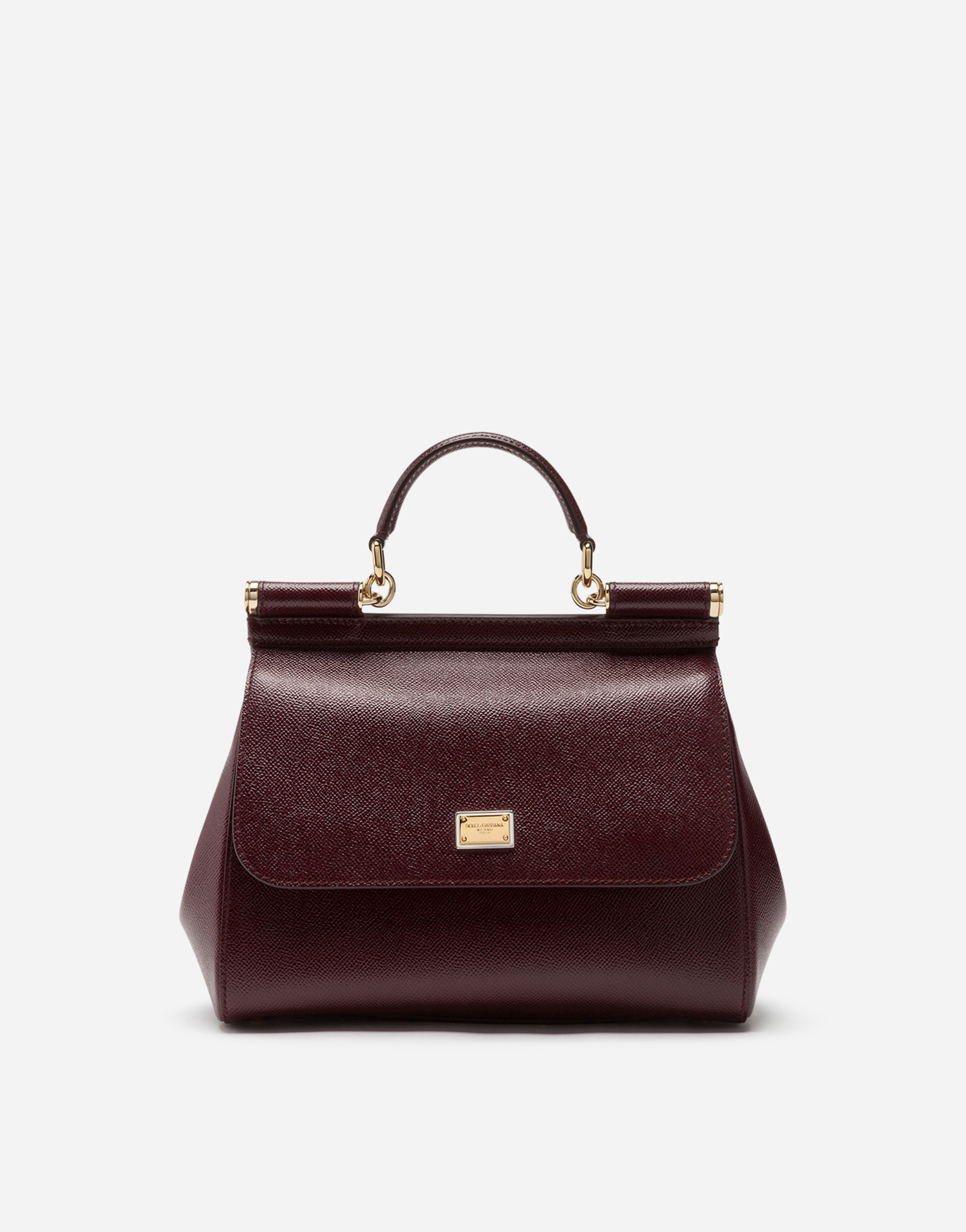 Dolce & Gabbana Medium Dauphine Leather Sicily Bag In Purple