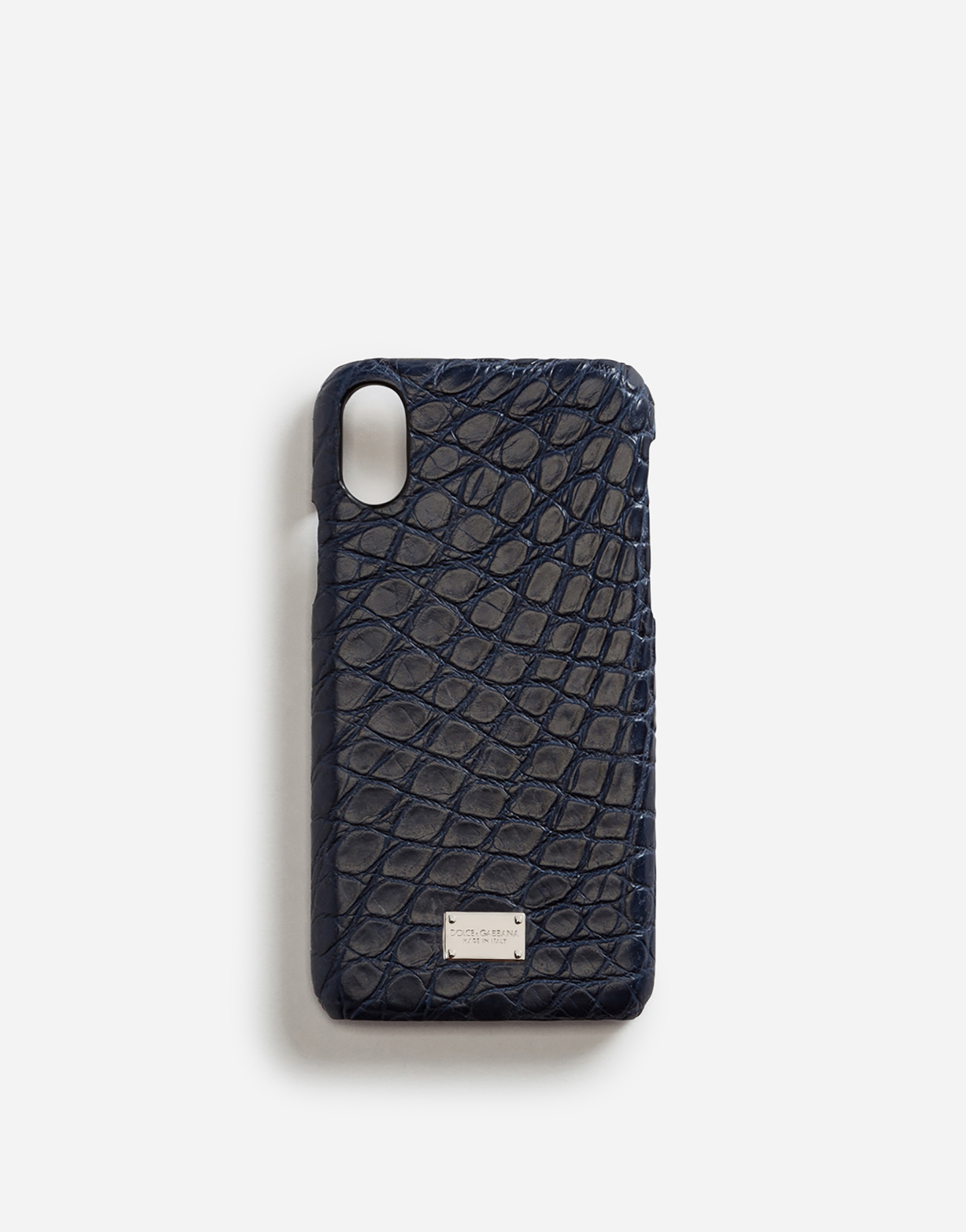 IPHONE X COVER WITH DETAILS IN CROCODILE