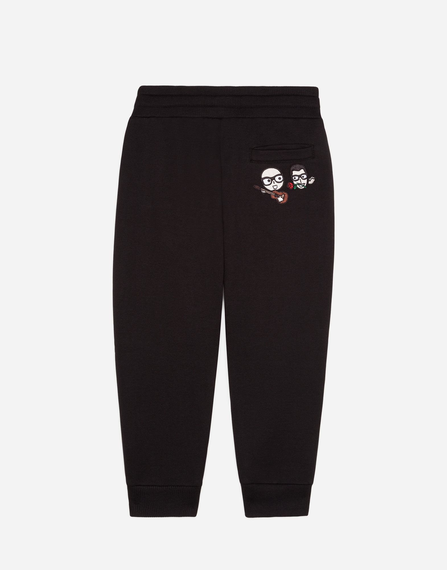 Dolce & Gabbana COTTON SWEATPANTS WITH PATCH