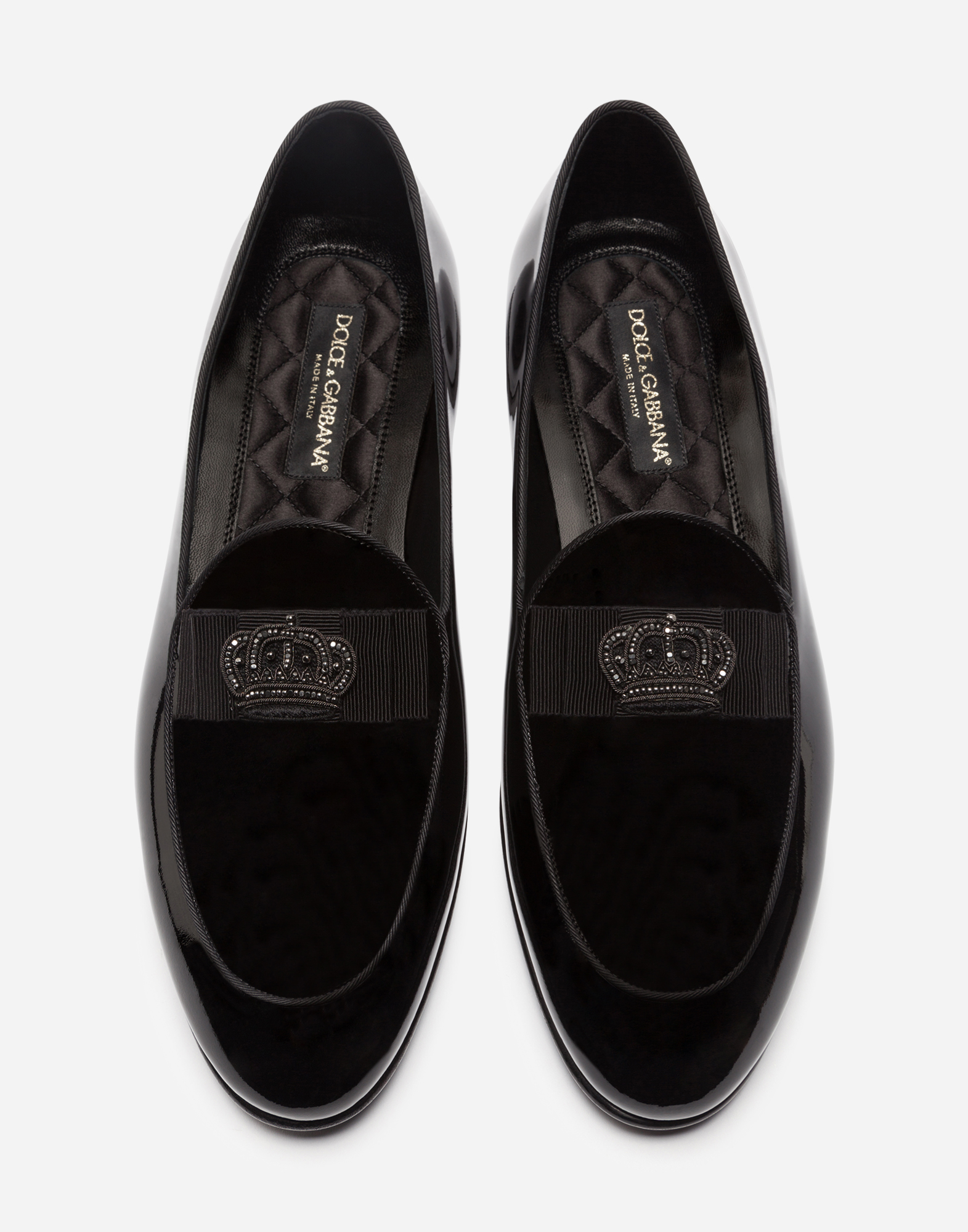 PATENT LEATHER SLIPPERS