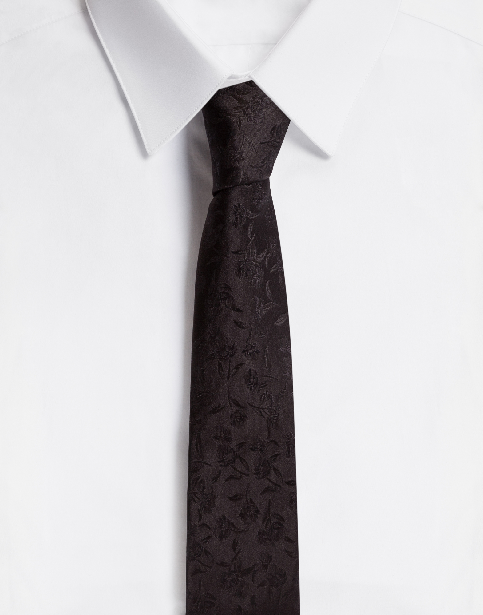 Dolce & Gabbana TIE WITH 6 CM - 2.4 INCHES SHELL IN JACQUARD SILK