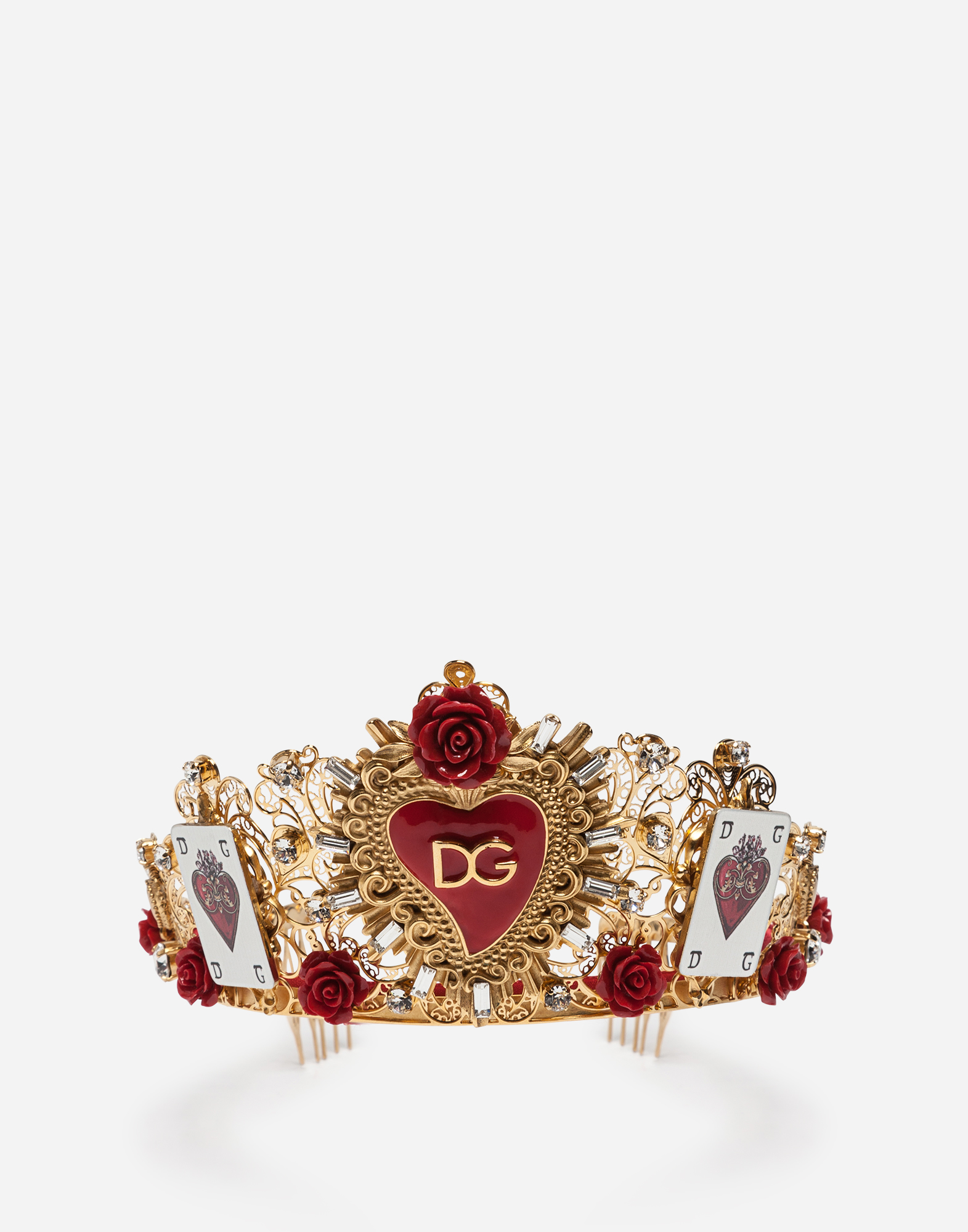 TIARA WITH DECORATIVE ELEMENTS