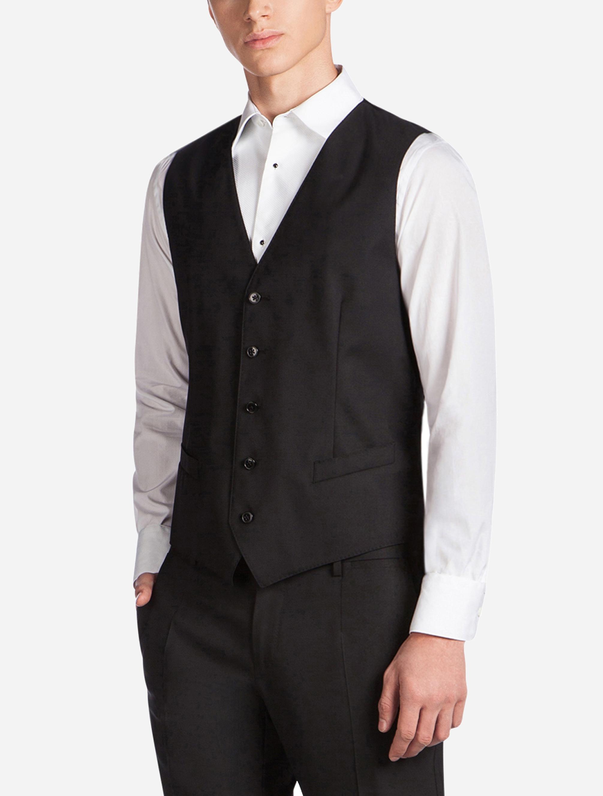 Dolce&Gabbana FIVE BUTTON VEST IN WOOL