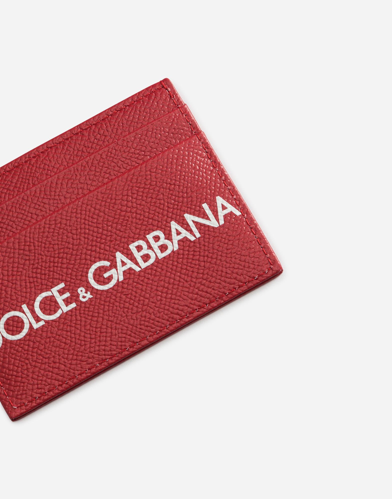 CREDIT CARD HOLDER IN PRINTED DAUPHINE CALFSKIN